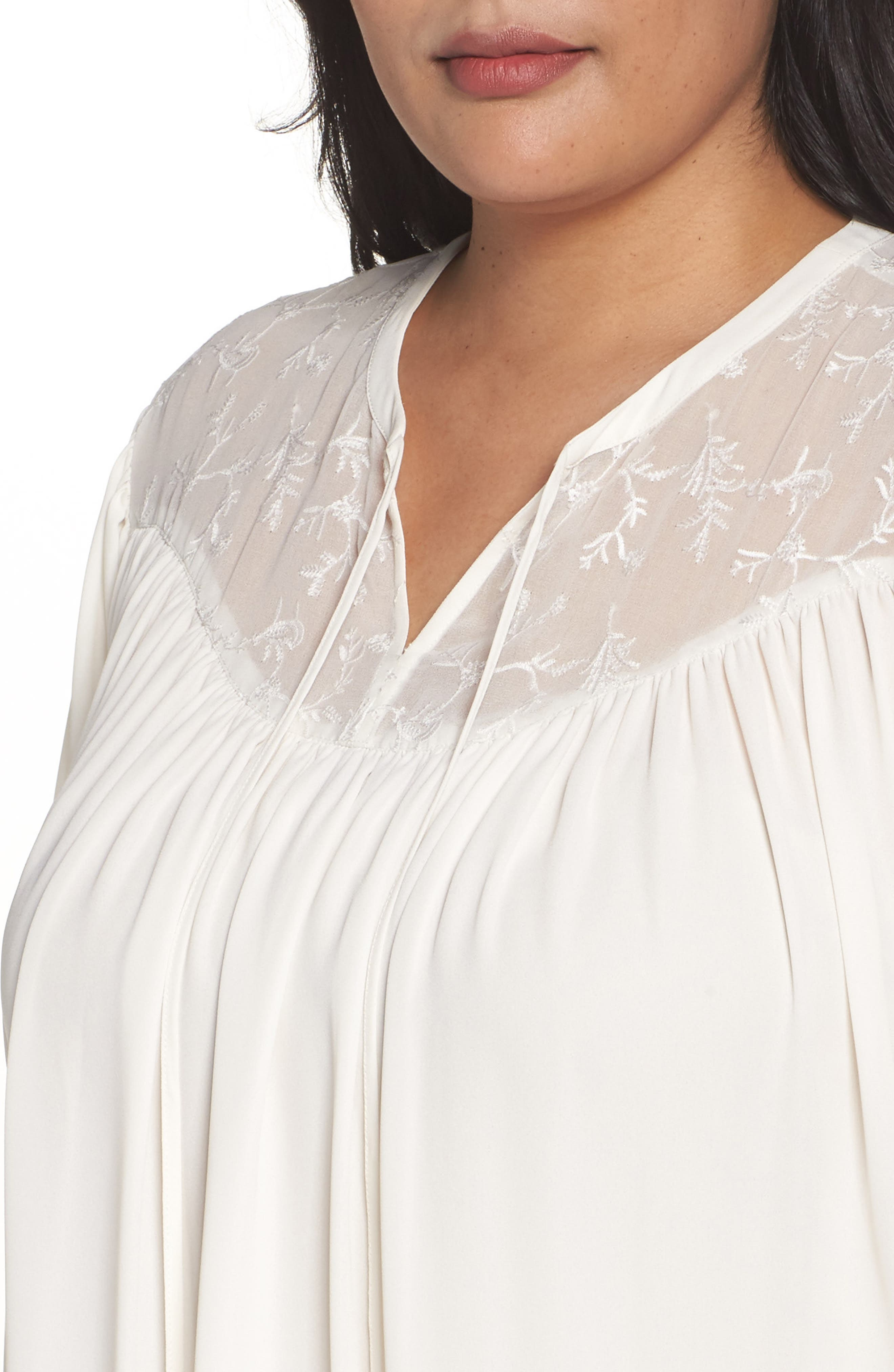 Embroidered Peasant Blouse,                             Alternate thumbnail 12, color,