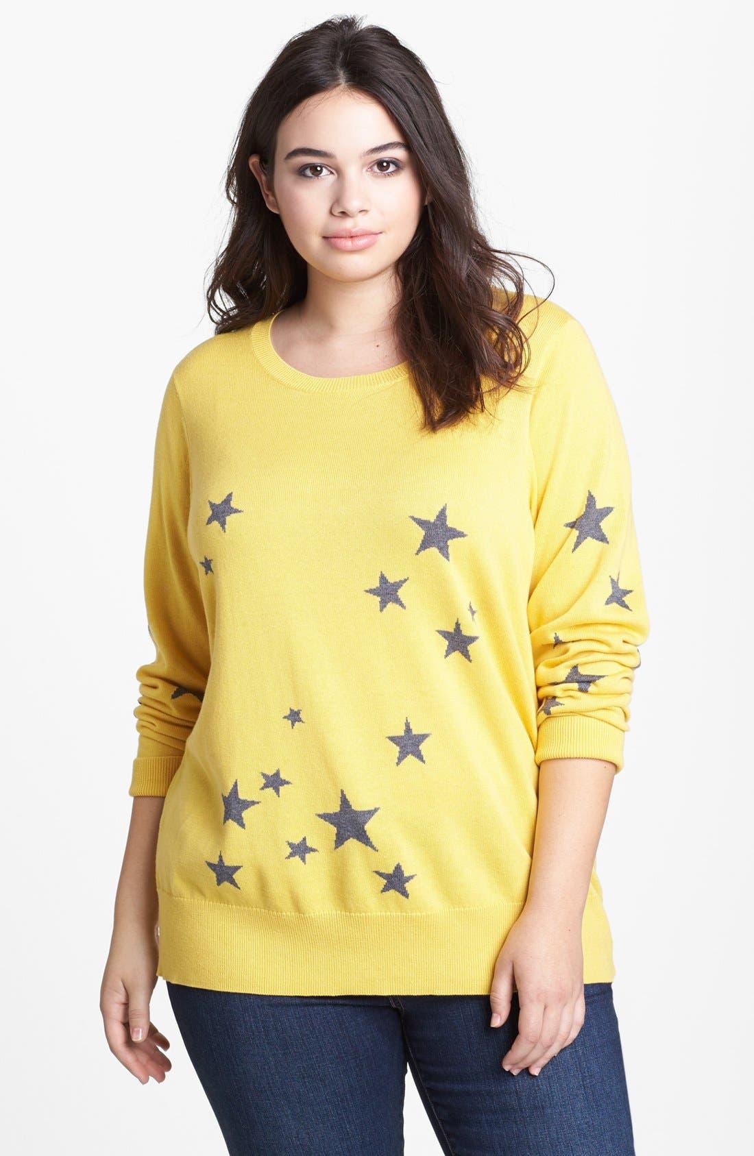Intarsia Crewneck Sweater,                             Main thumbnail 4, color,
