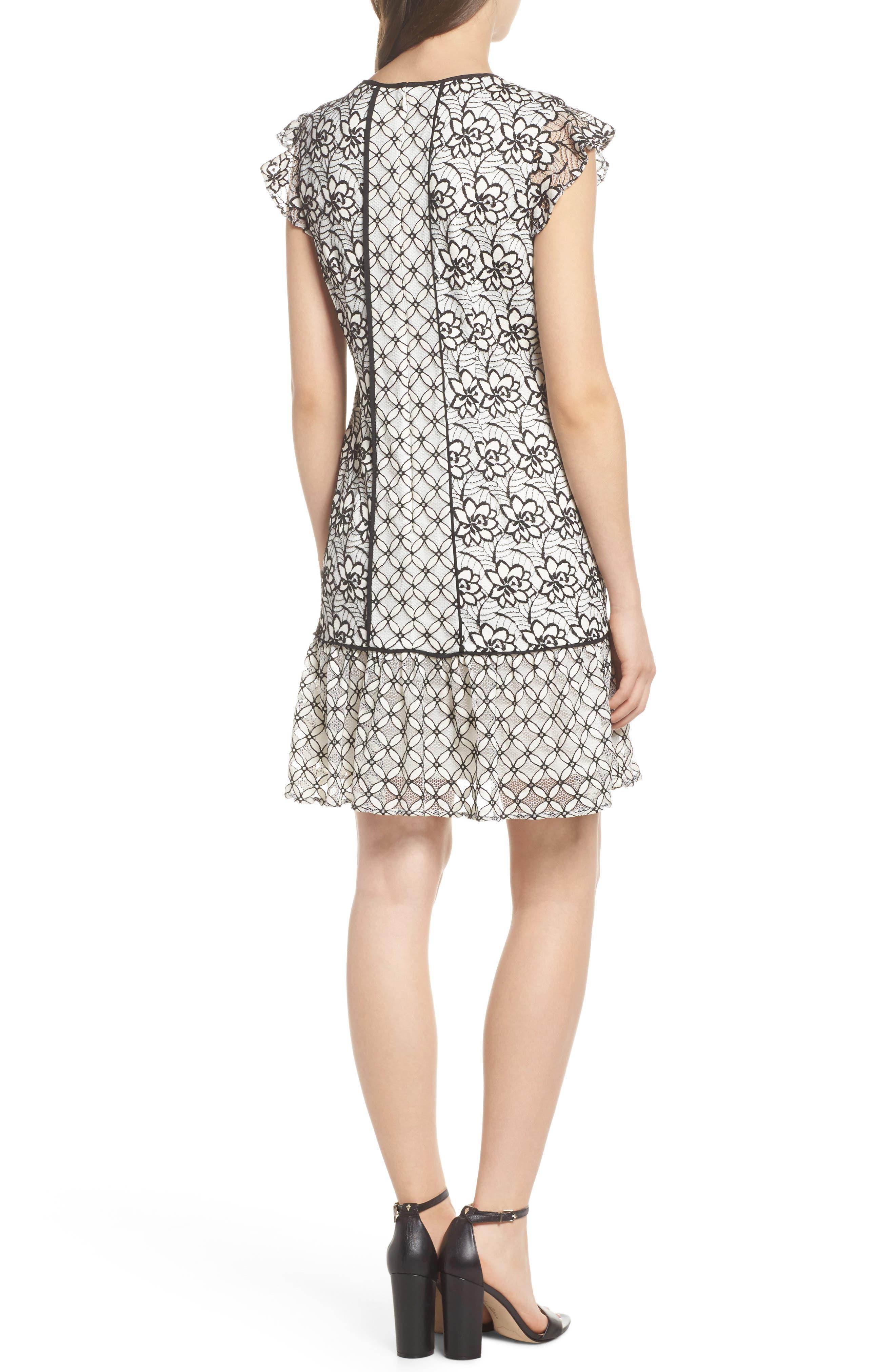 Lace Shift Dress,                             Alternate thumbnail 2, color,                             002