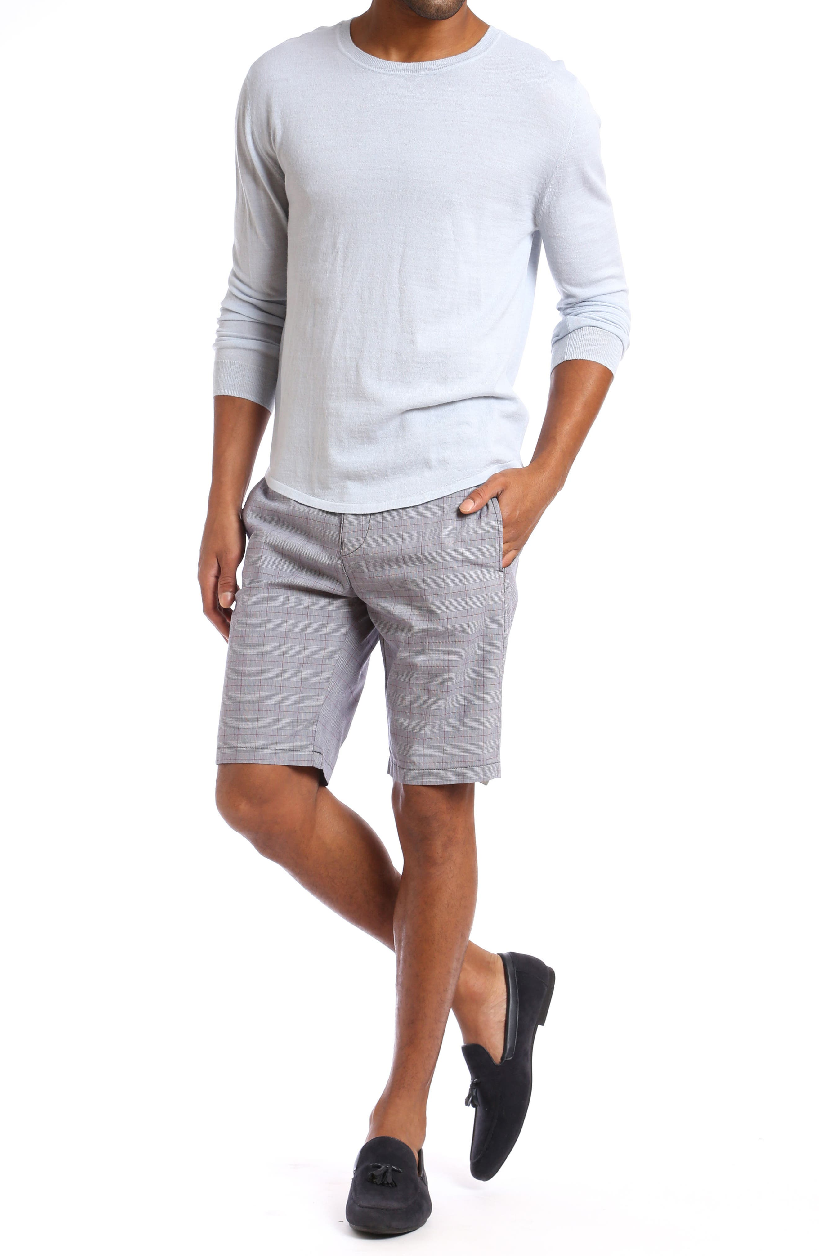 Nevada Twill Shorts,                             Alternate thumbnail 4, color,                             GREY PLAID