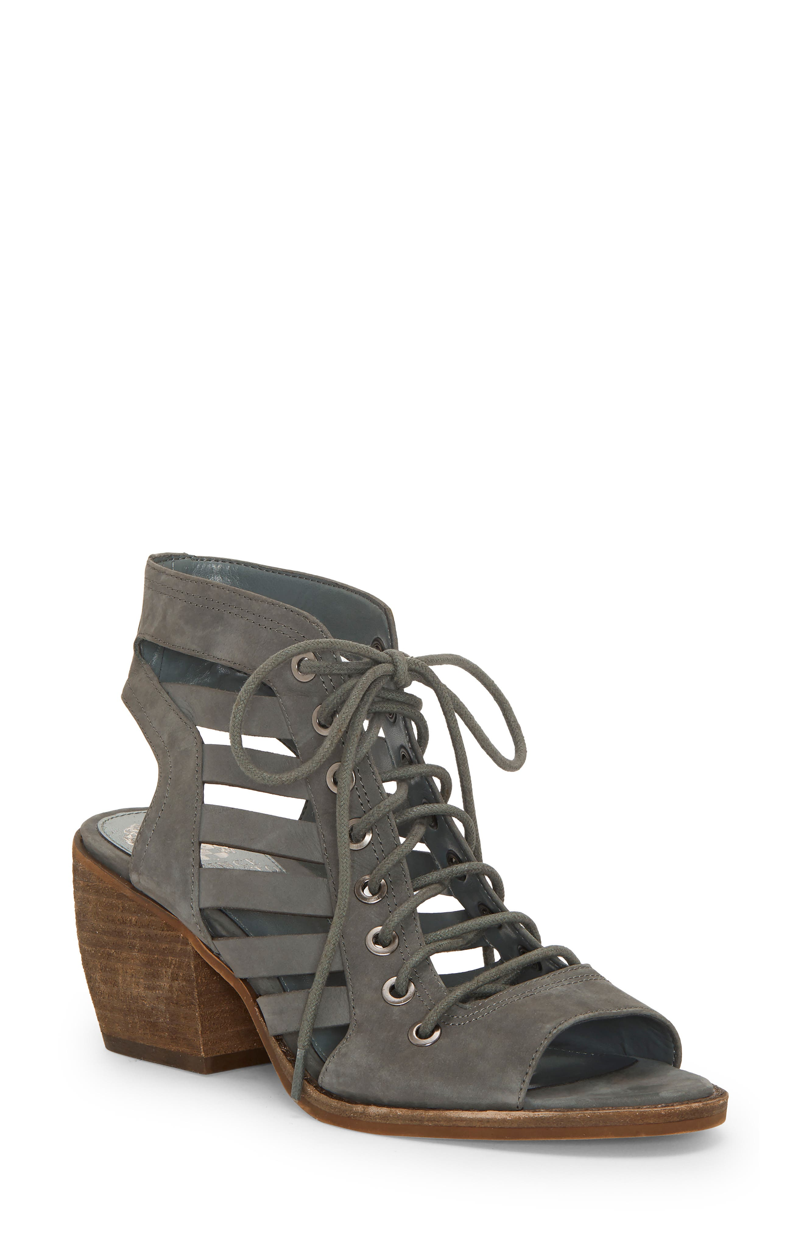 Vince Camuto Chesten Lace-Up Sandal, Grey