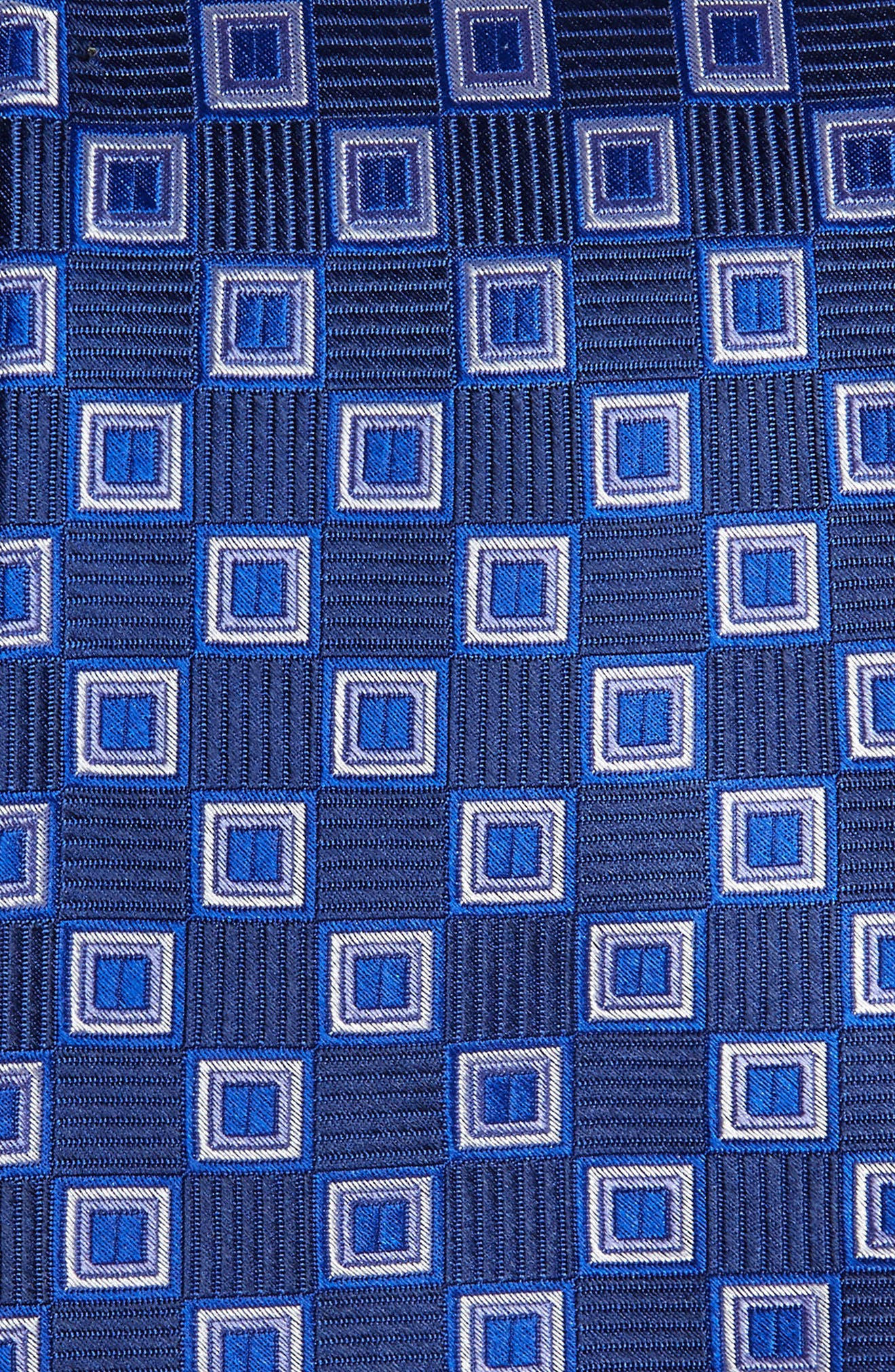 Ashton Squares Silk Tie,                             Alternate thumbnail 2, color,                             NAVY BLUE