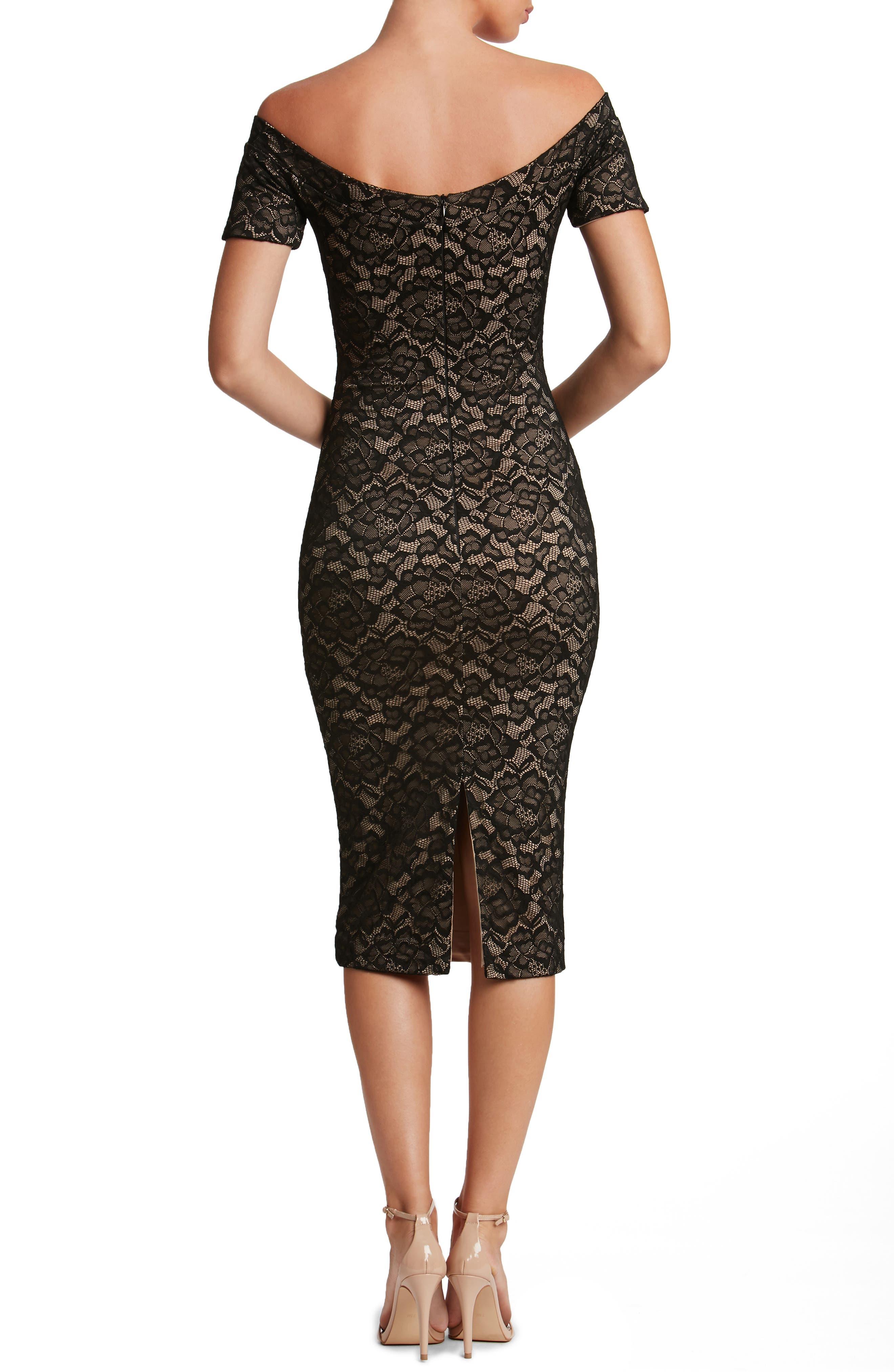 Jemma Midi Dress,                             Alternate thumbnail 2, color,                             001