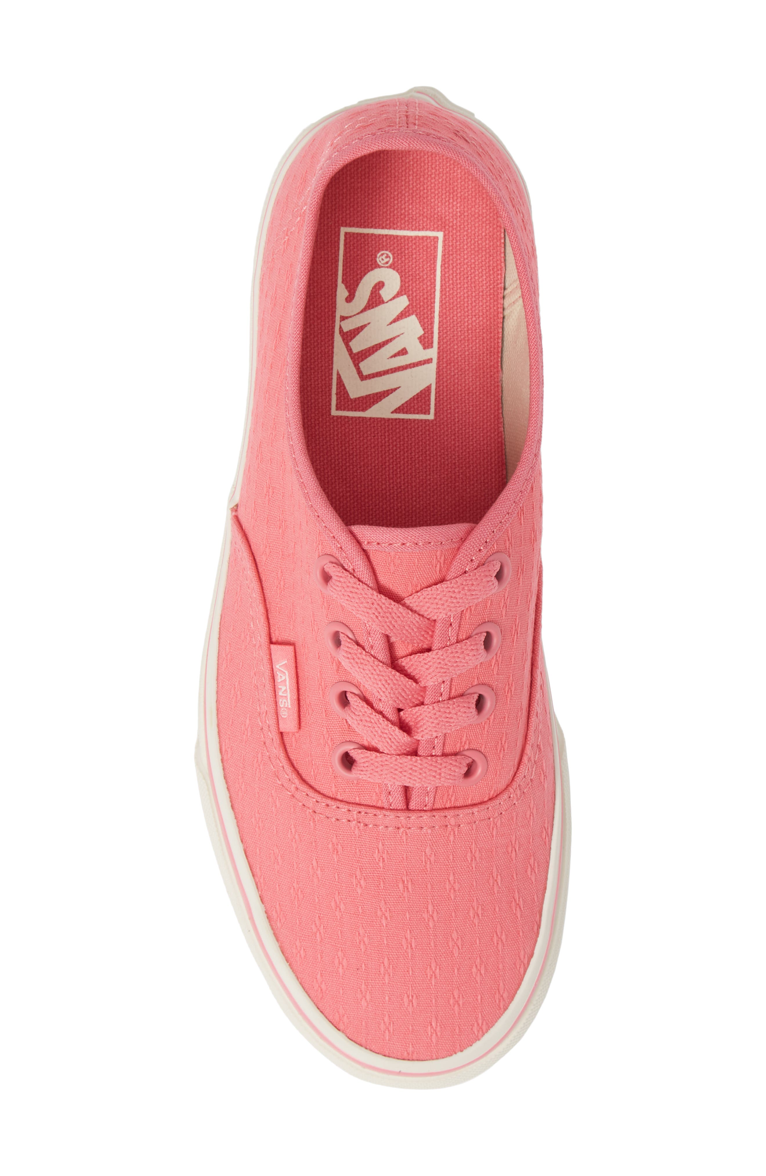 'Authentic' Sneaker,                             Alternate thumbnail 5, color,                             PINK LEMONADE/ MARSHMALLOW