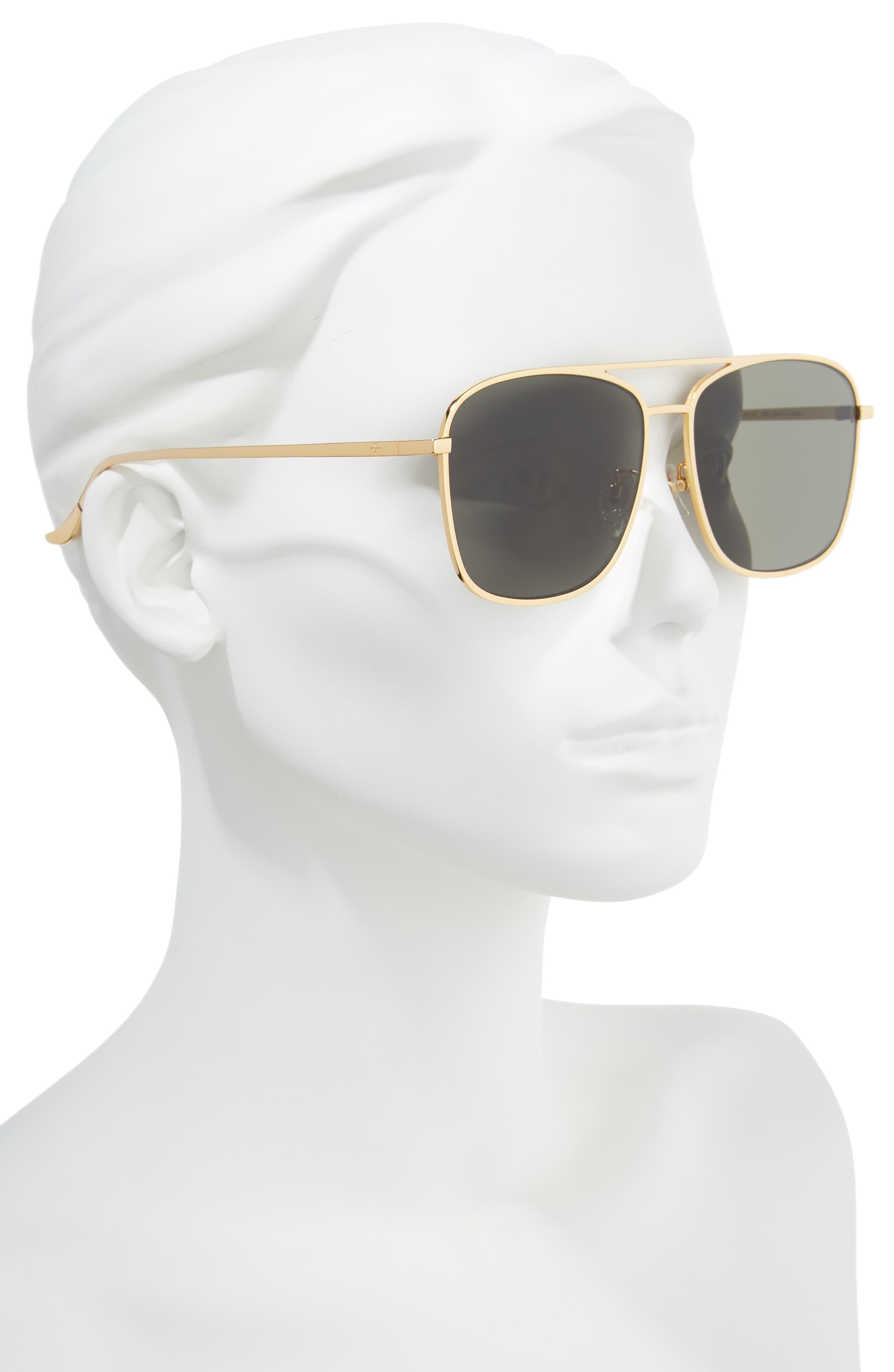 BLANC & ECLARE Geneva Large 60mm Polarized Metal Aviator Sunglasses,                             Alternate thumbnail 4, color,