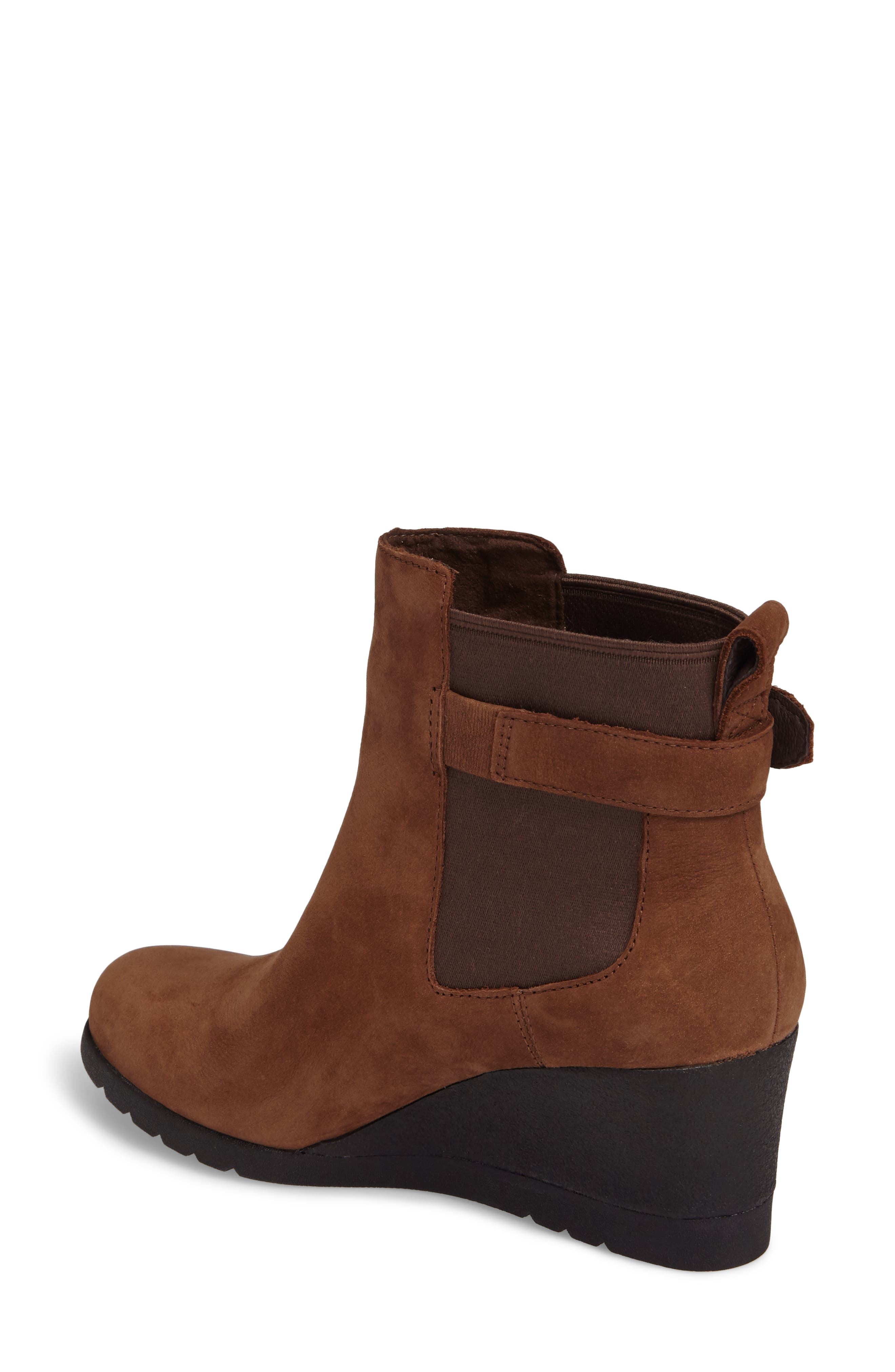 Waterproof Insulated Wedge Boot,                             Alternate thumbnail 2, color,                             STOUT LEATHER