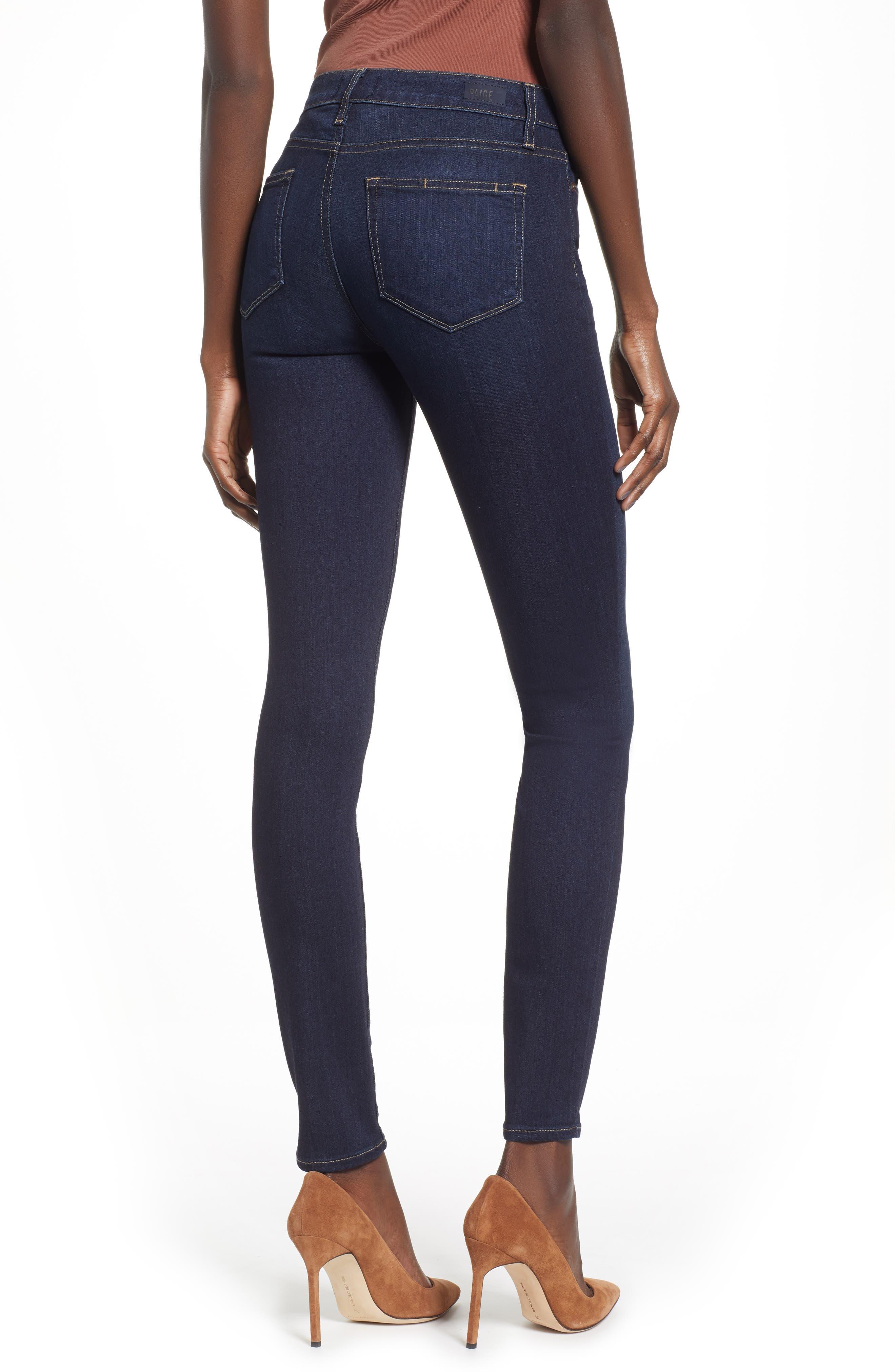 Transcend - Hoxton High Waist Ultra Skinny Jeans,                             Alternate thumbnail 2, color,                             SANIA