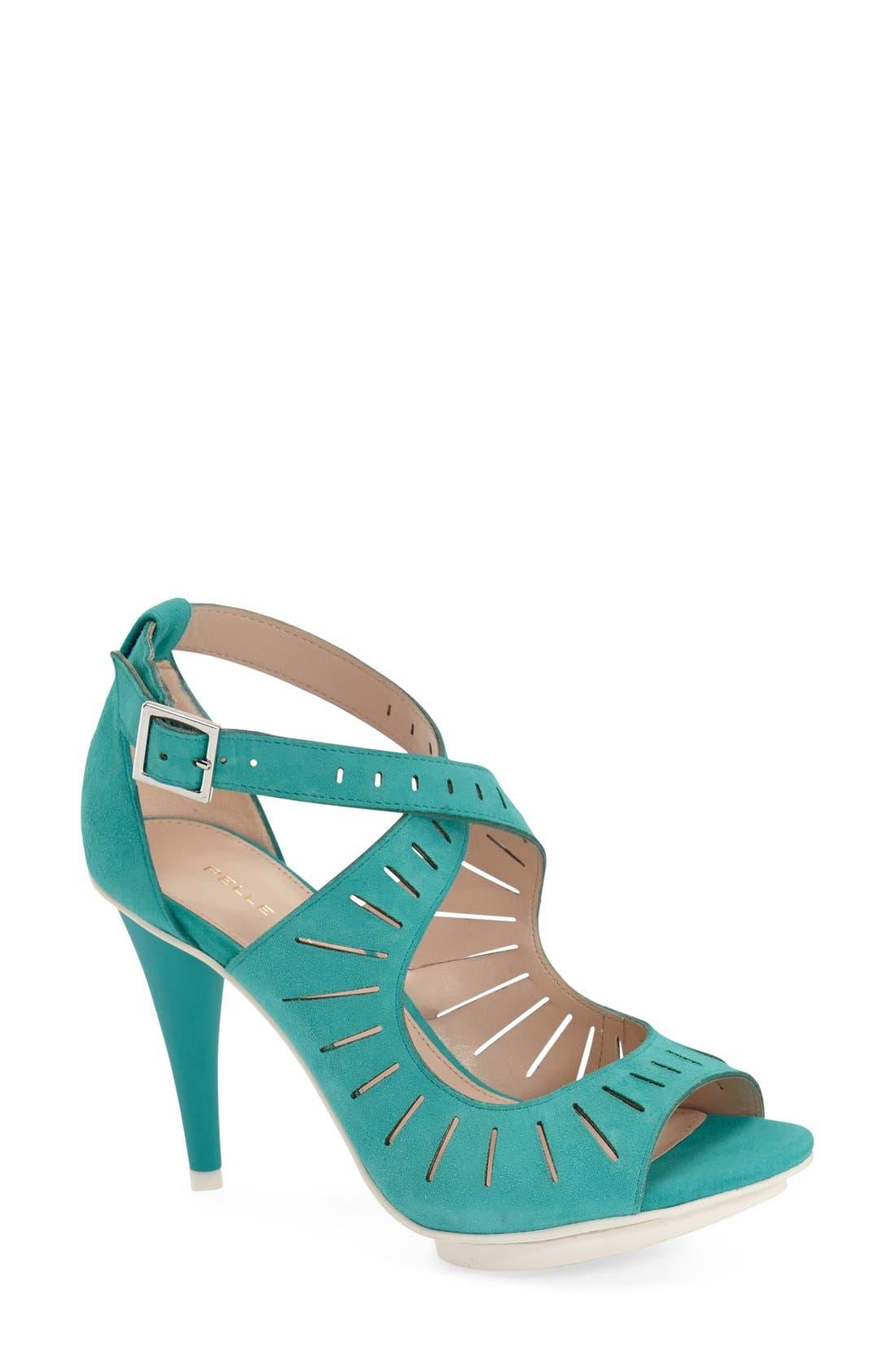'Menlo' Cutout Sandal,                             Main thumbnail 3, color,