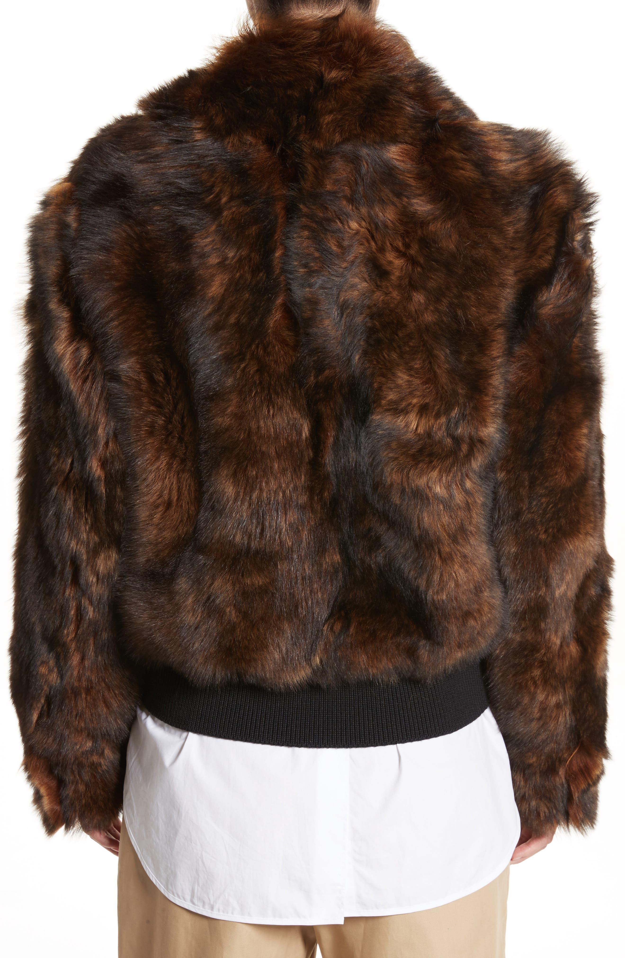 Genuine Shearling Jacket,                             Alternate thumbnail 2, color,