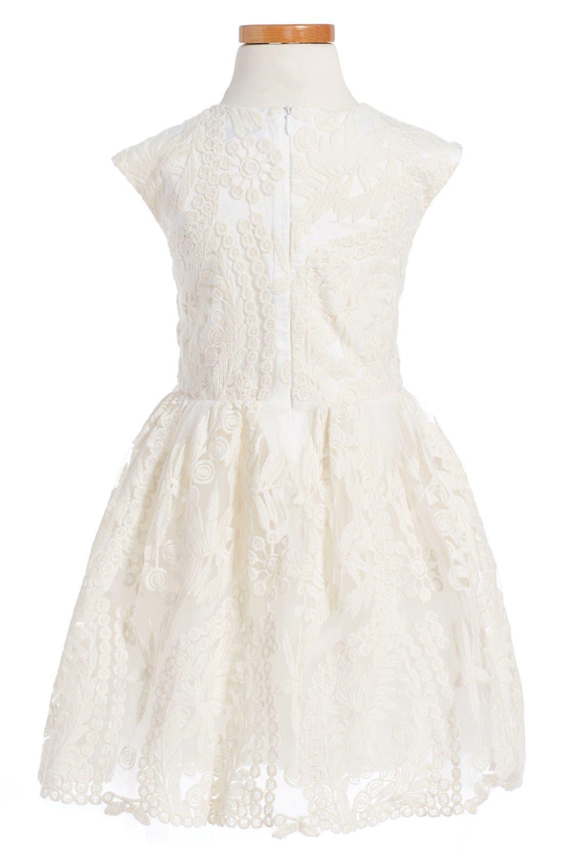 HALABALOO,                             Embroidered Flower Dress,                             Alternate thumbnail 3, color,                             900