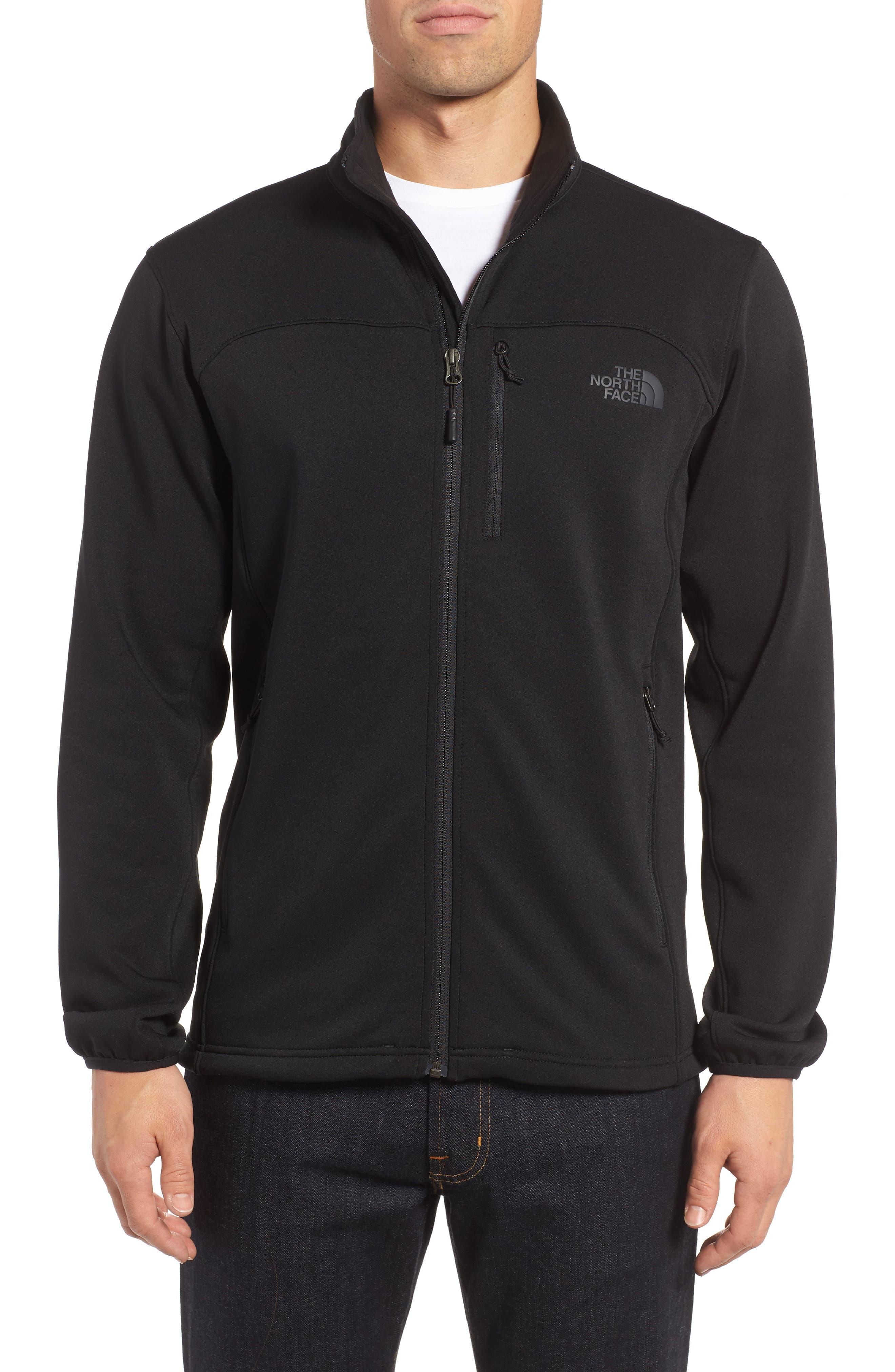 'Momentum' Fleece Jacket,                             Main thumbnail 1, color,                             TNF BLACK