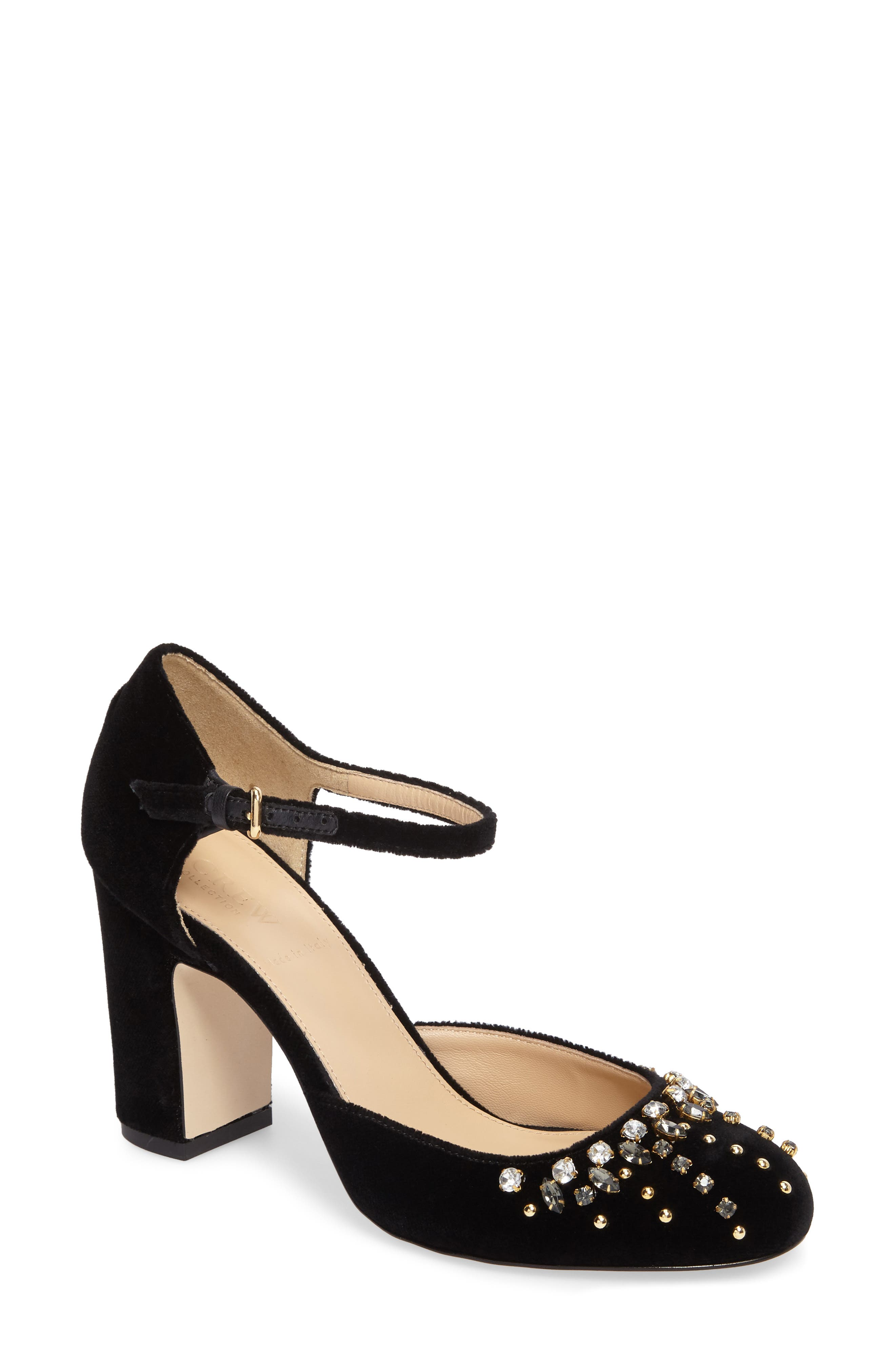 Embellished Mary Jane Pump,                         Main,                         color, 001