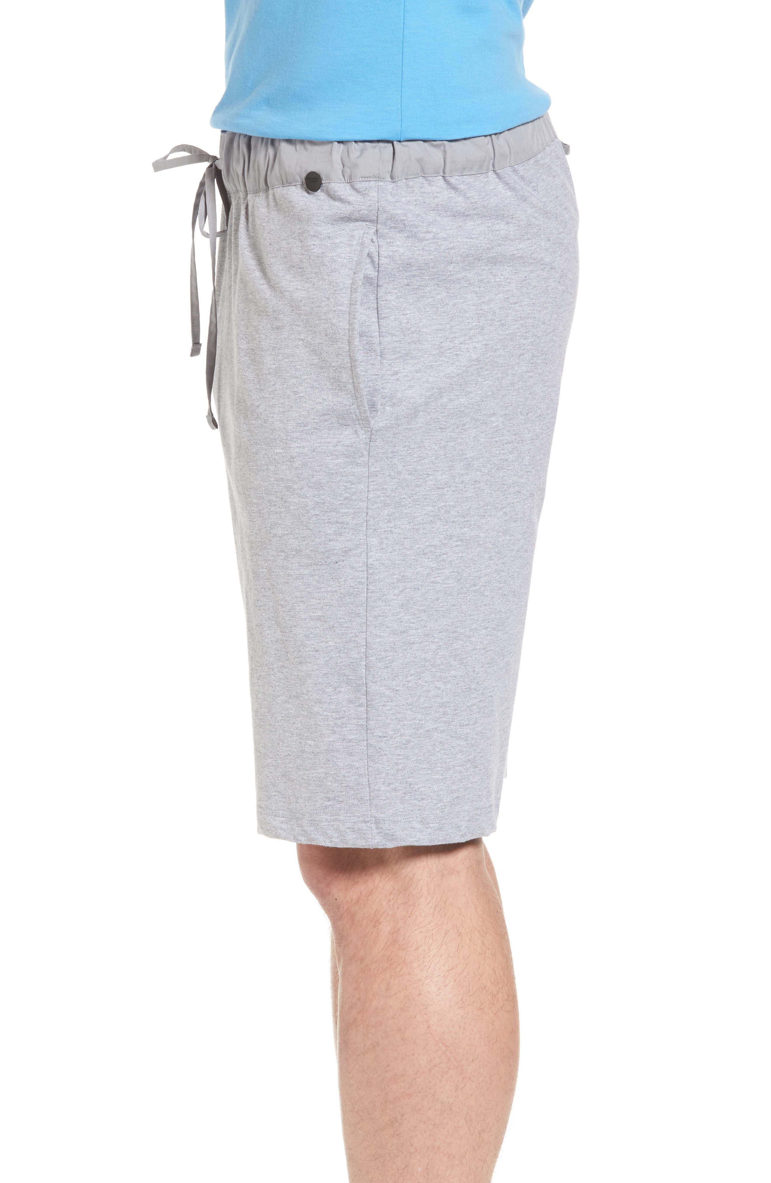 Night & Day Knit Shorts,                             Alternate thumbnail 3, color,                             SILVER MELANGE