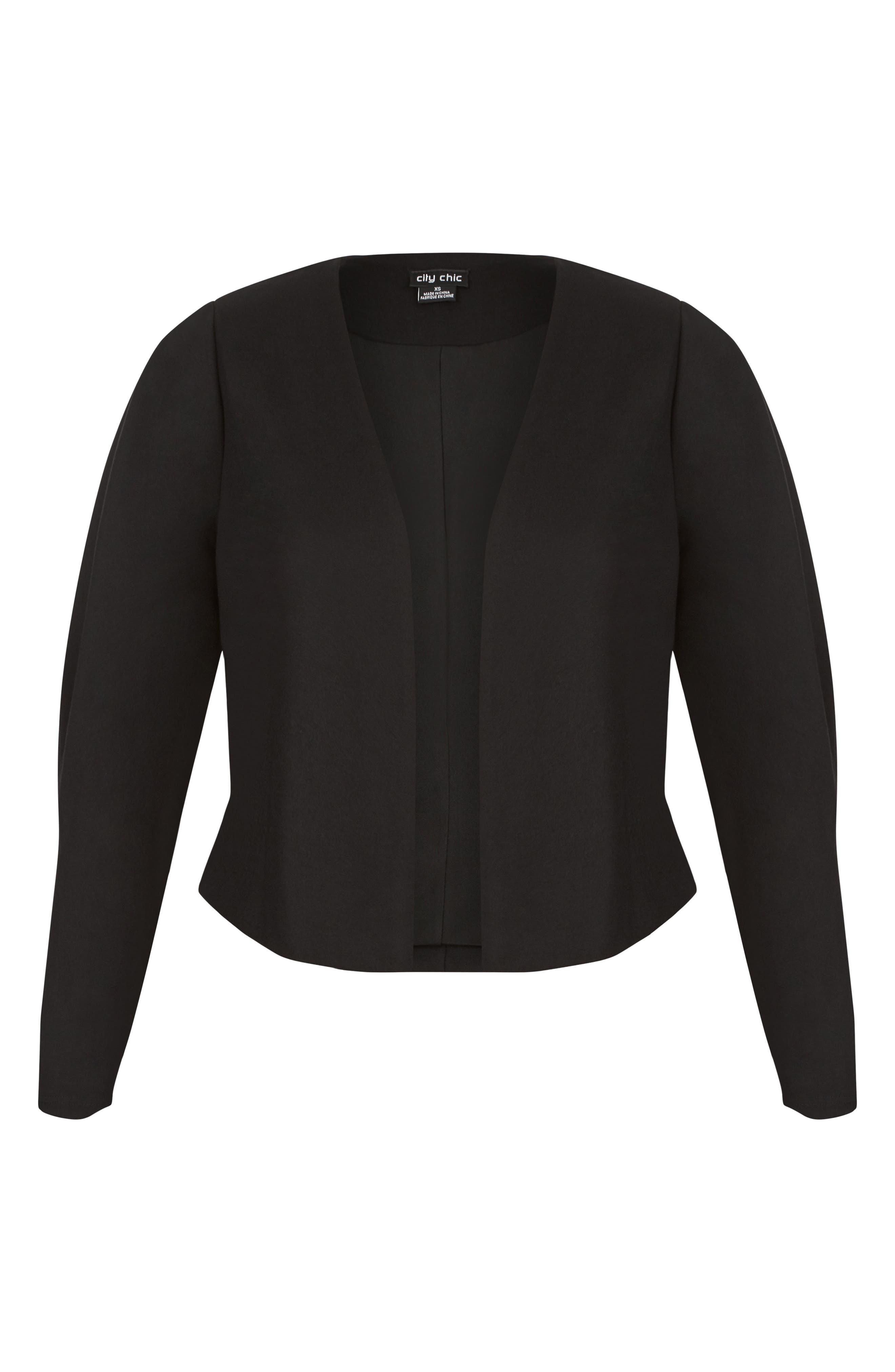 Office Fling Jacket,                             Alternate thumbnail 3, color,                             BLACK