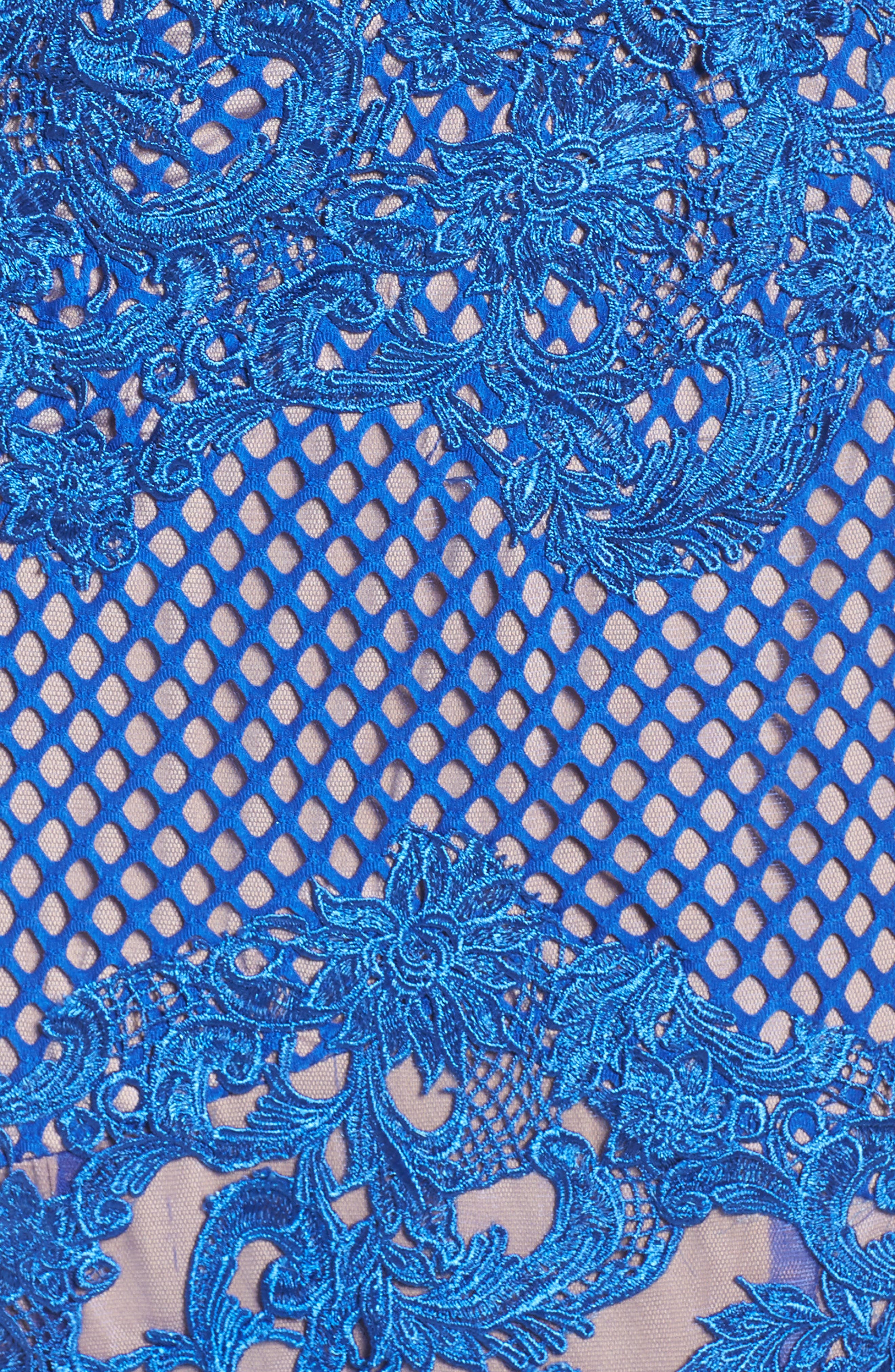 Illusion Mermaid Gown,                             Alternate thumbnail 5, color,                             415