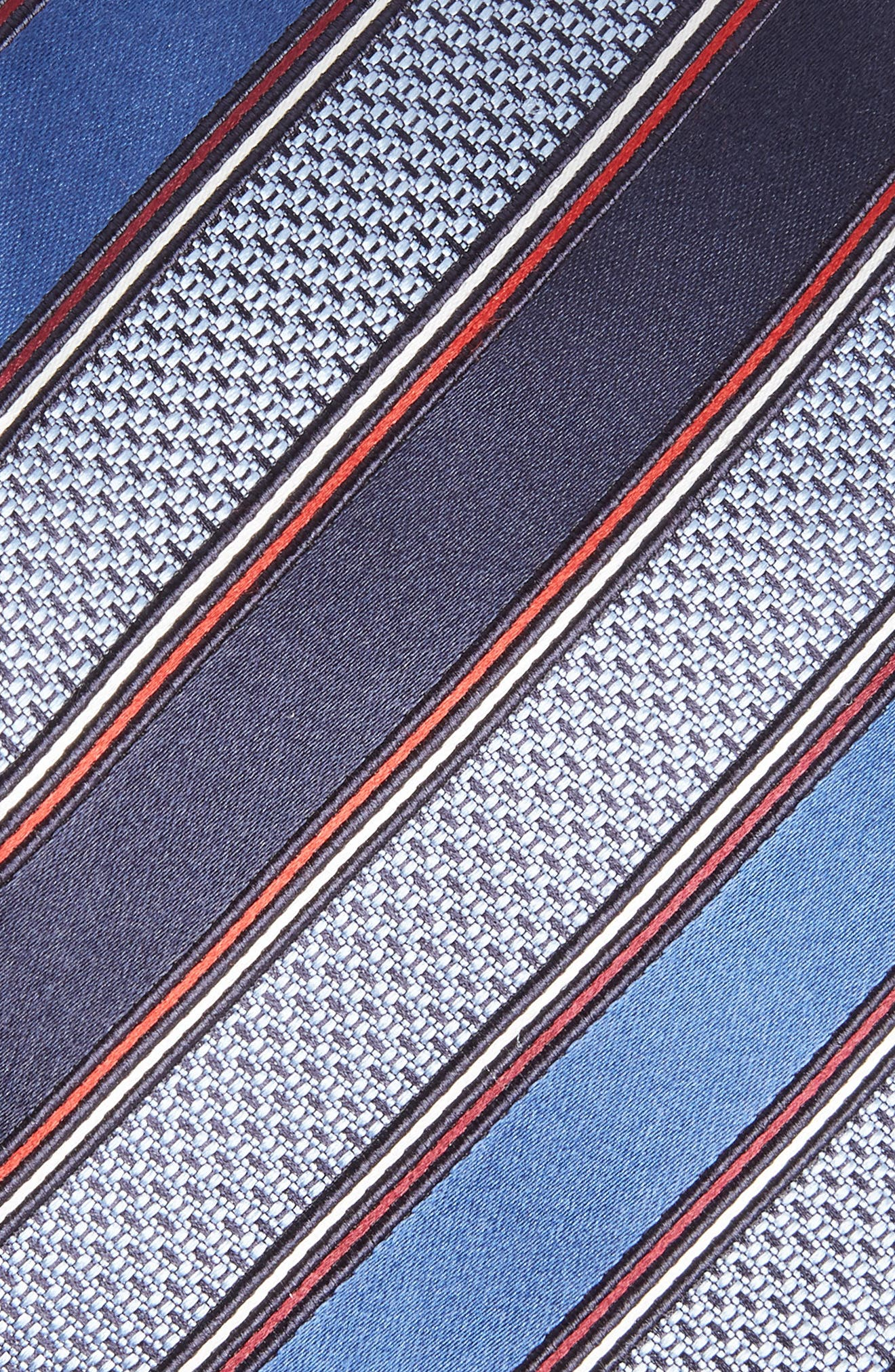 Stripe Silk & Cotton Tie,                             Alternate thumbnail 2, color,                             414