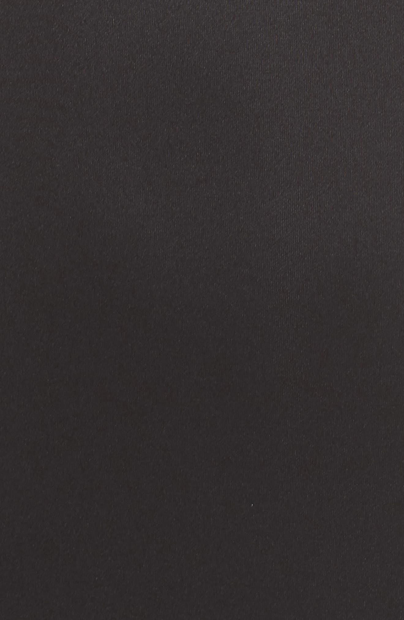 Double Strap Scuba Body-Con Dress,                             Alternate thumbnail 5, color,                             BLACK