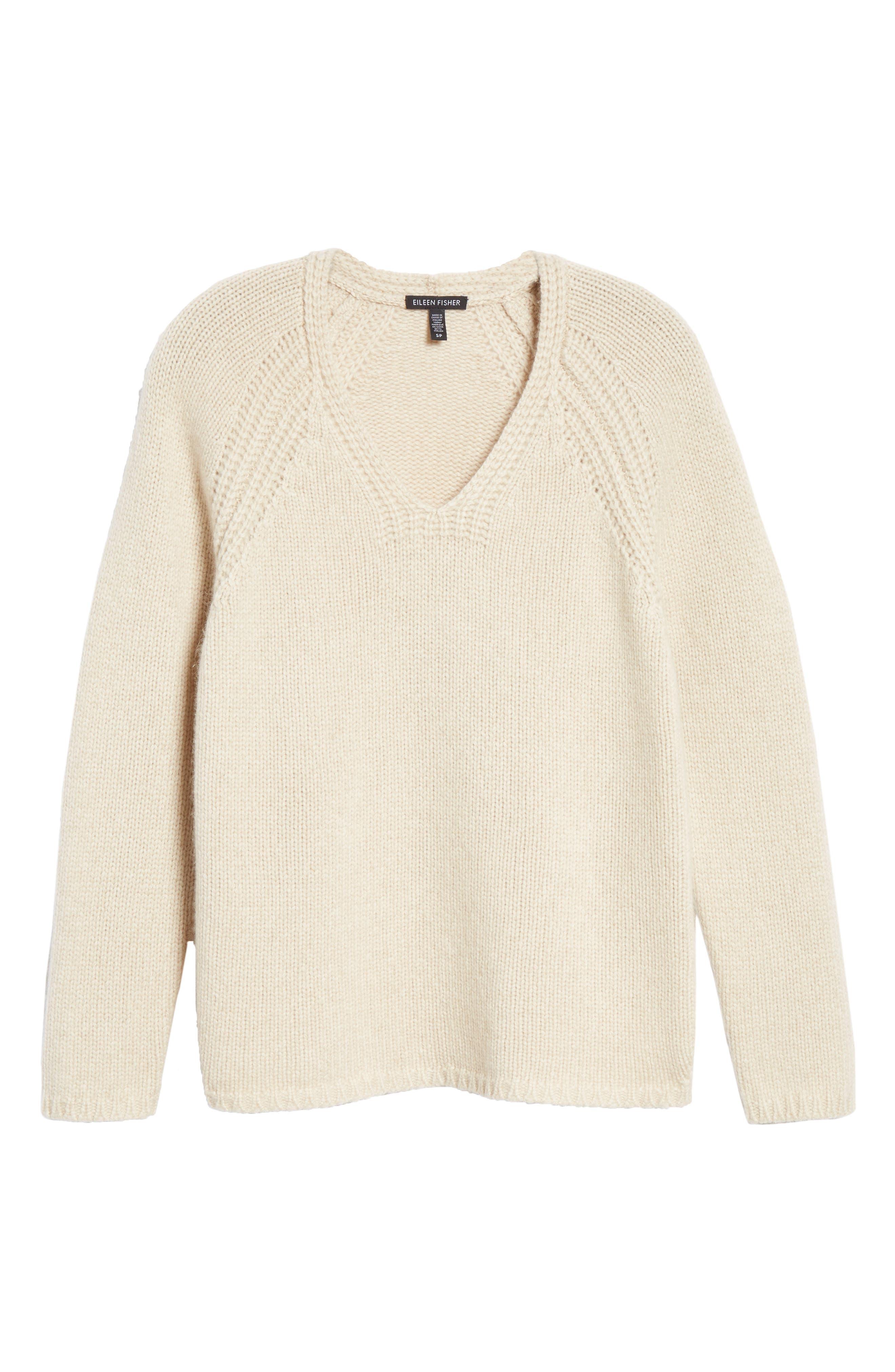 V-Neck Cashmere Sweater,                             Alternate thumbnail 6, color,                             264