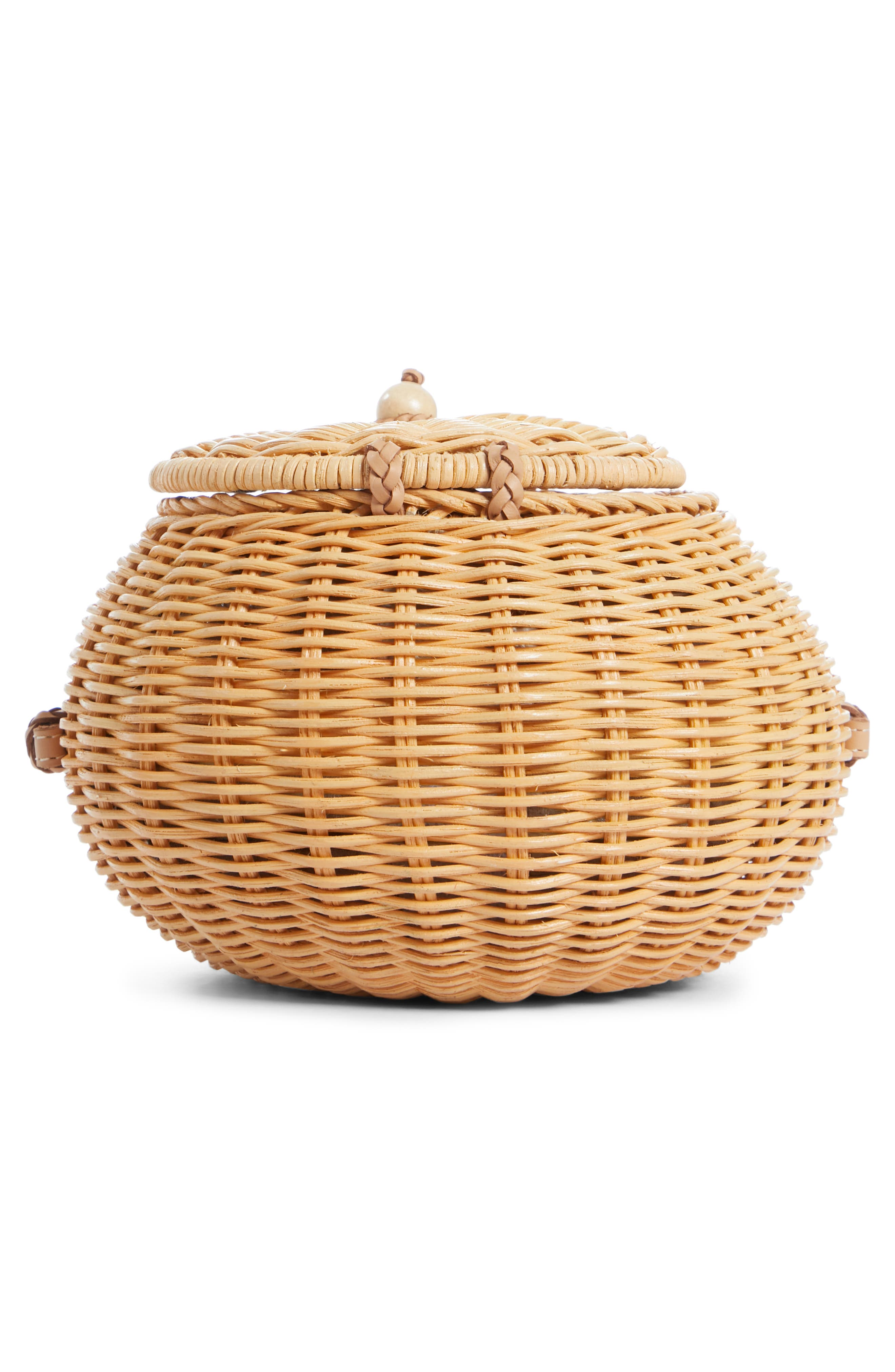 ULLA JOHNSON,                             Pomme Woven Rattan Shoulder Bag,                             Alternate thumbnail 6, color,                             NATURAL