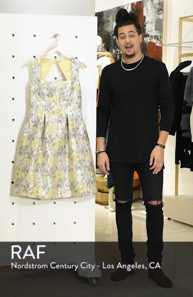 Floral Jacquard Fit & Flare Dress, sales video thumbnail