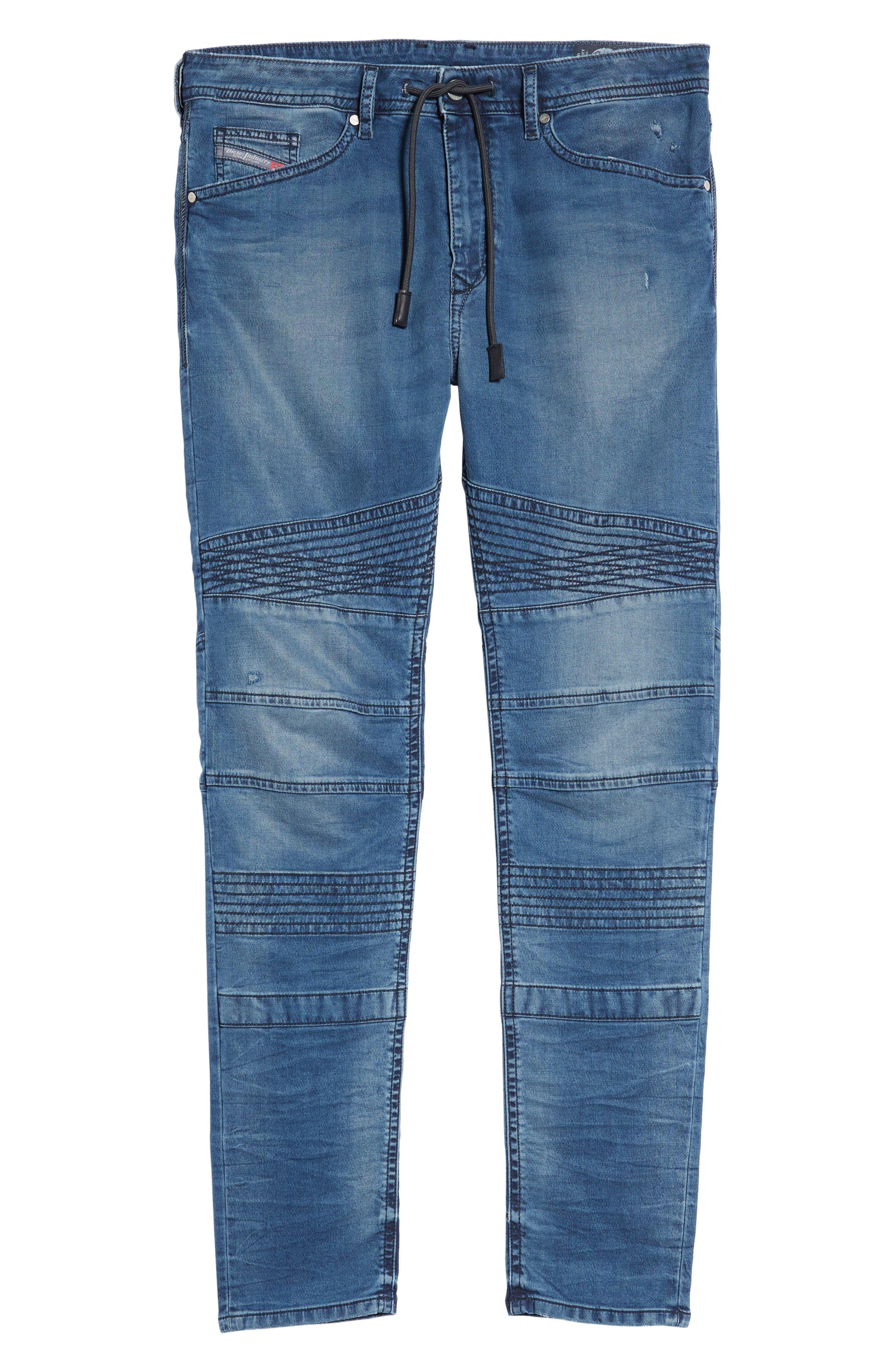 Bakari Skinny Fit Jeans,                             Alternate thumbnail 6, color,                             400