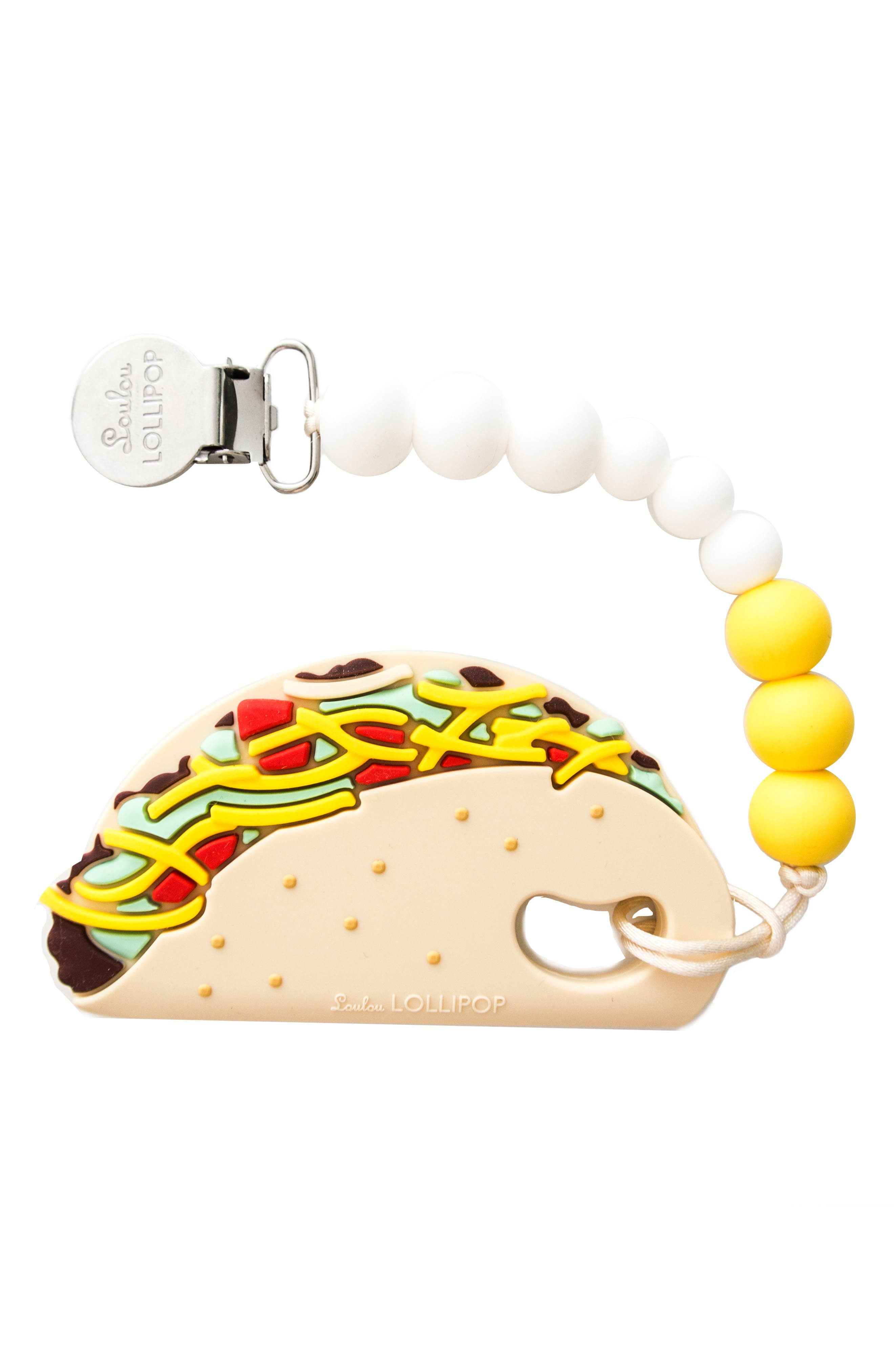 Taco Teething Toy & Holder,                         Main,                         color, MULTI