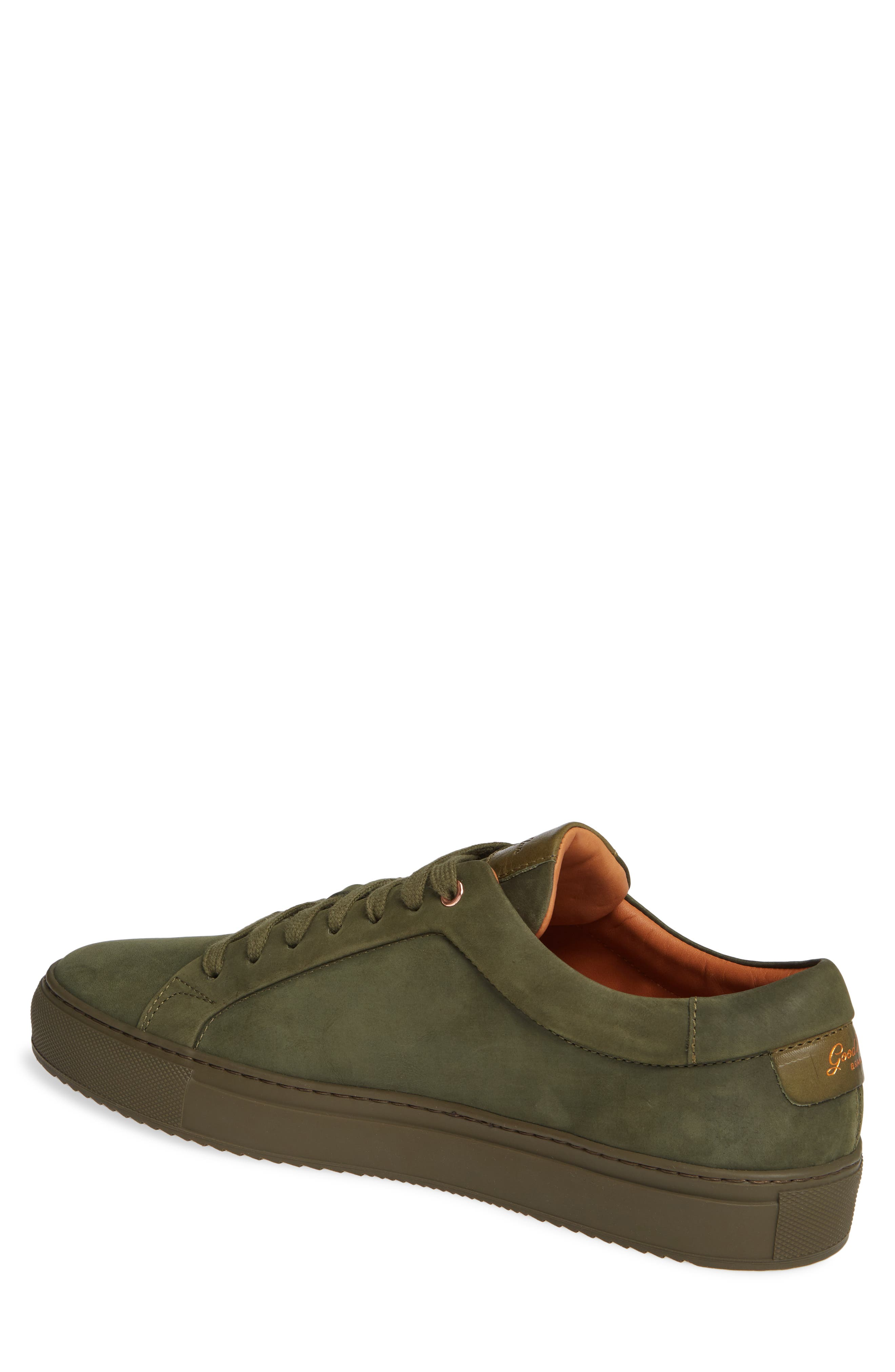 Sure Shot Lo Sneaker,                             Alternate thumbnail 2, color,                             MILITARY GREEN LEATHER
