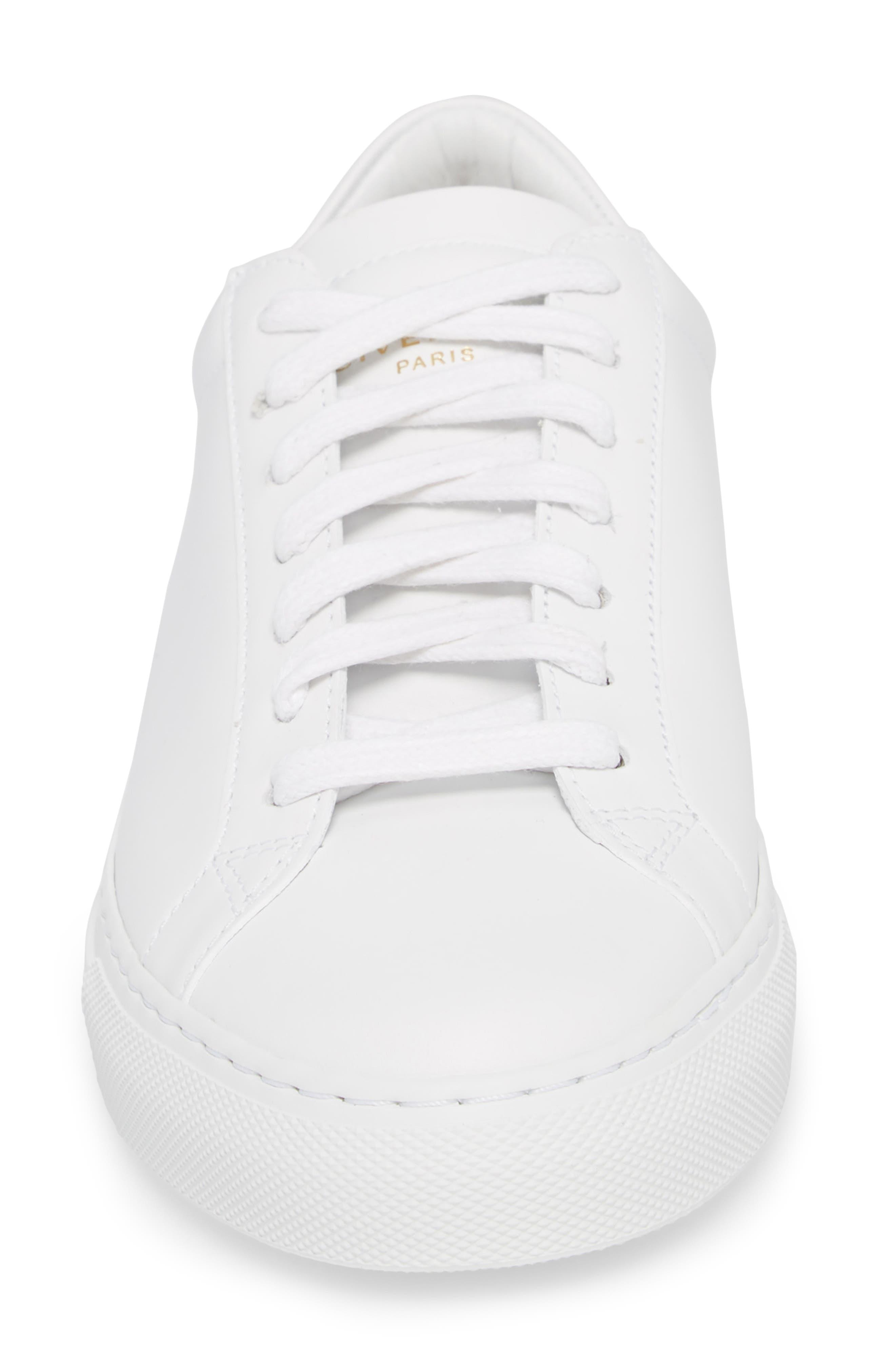 Low Top Sneaker,                             Alternate thumbnail 4, color,                             OPTIC WHITE