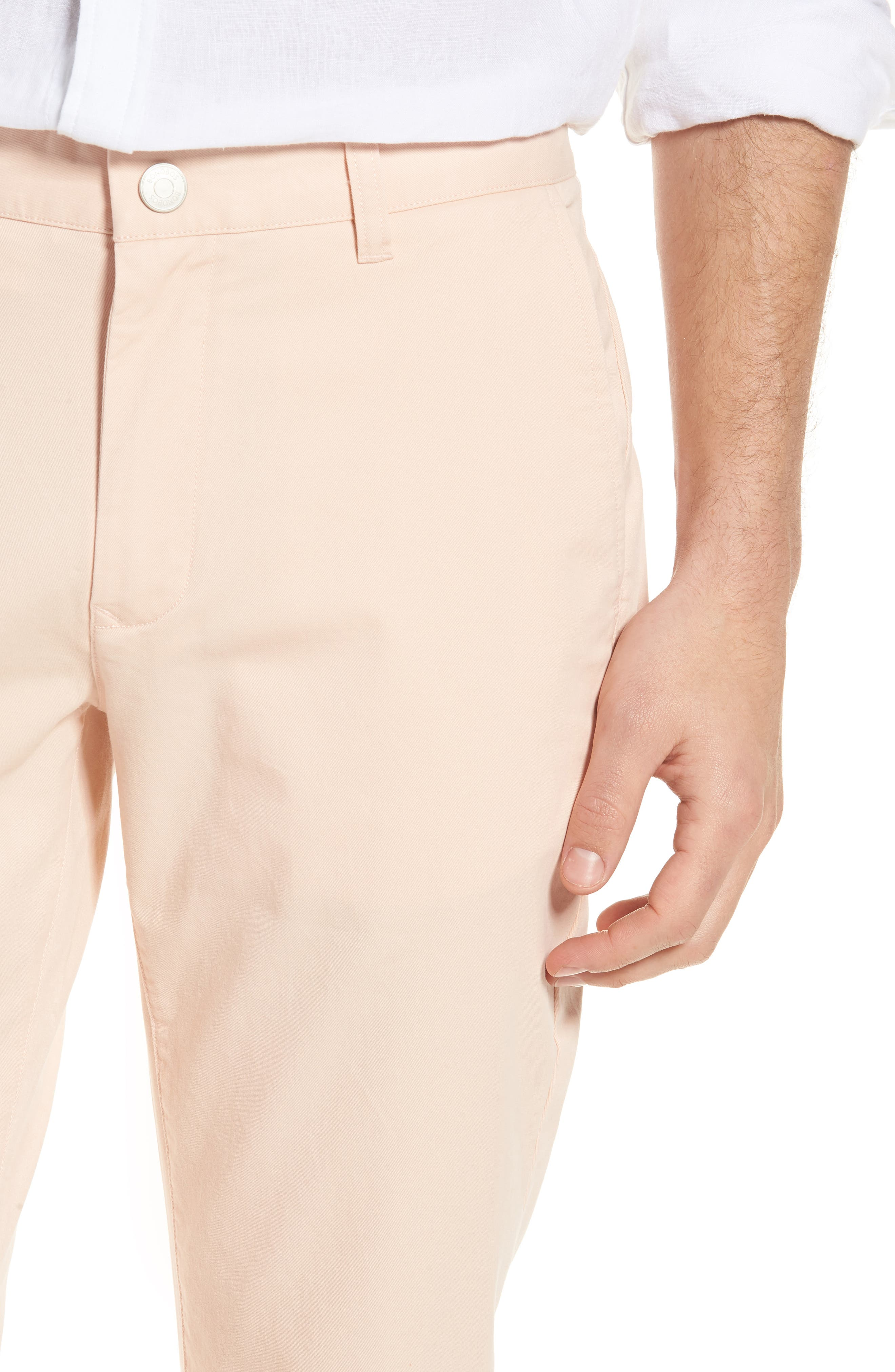 Tailored Fit Washed Stretch Cotton Chinos,                             Alternate thumbnail 127, color,