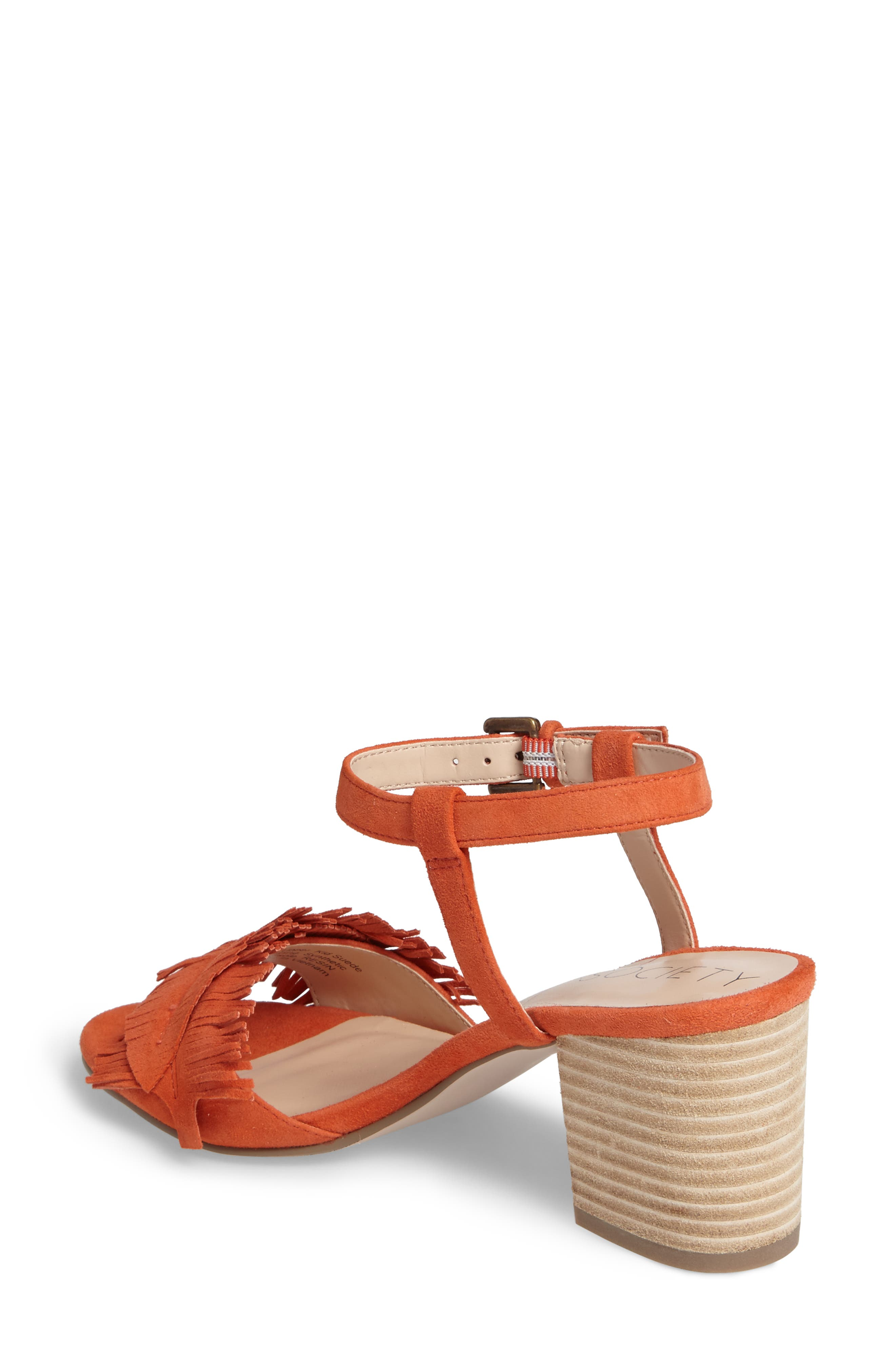 Sepia Fringe Sandal,                             Alternate thumbnail 6, color,