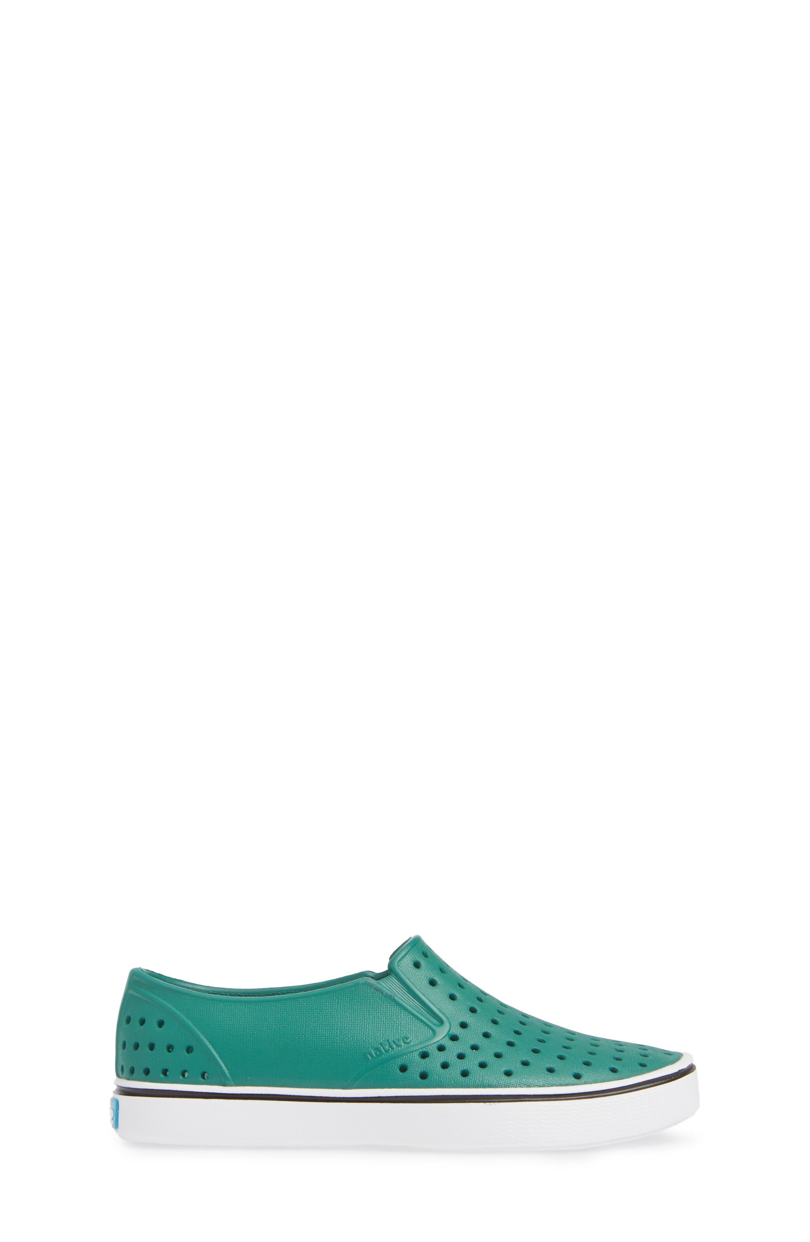 Miles Water Friendly Slip-On Vegan Sneaker,                             Alternate thumbnail 3, color,                             EVERGREEN/ SHELL WHITE