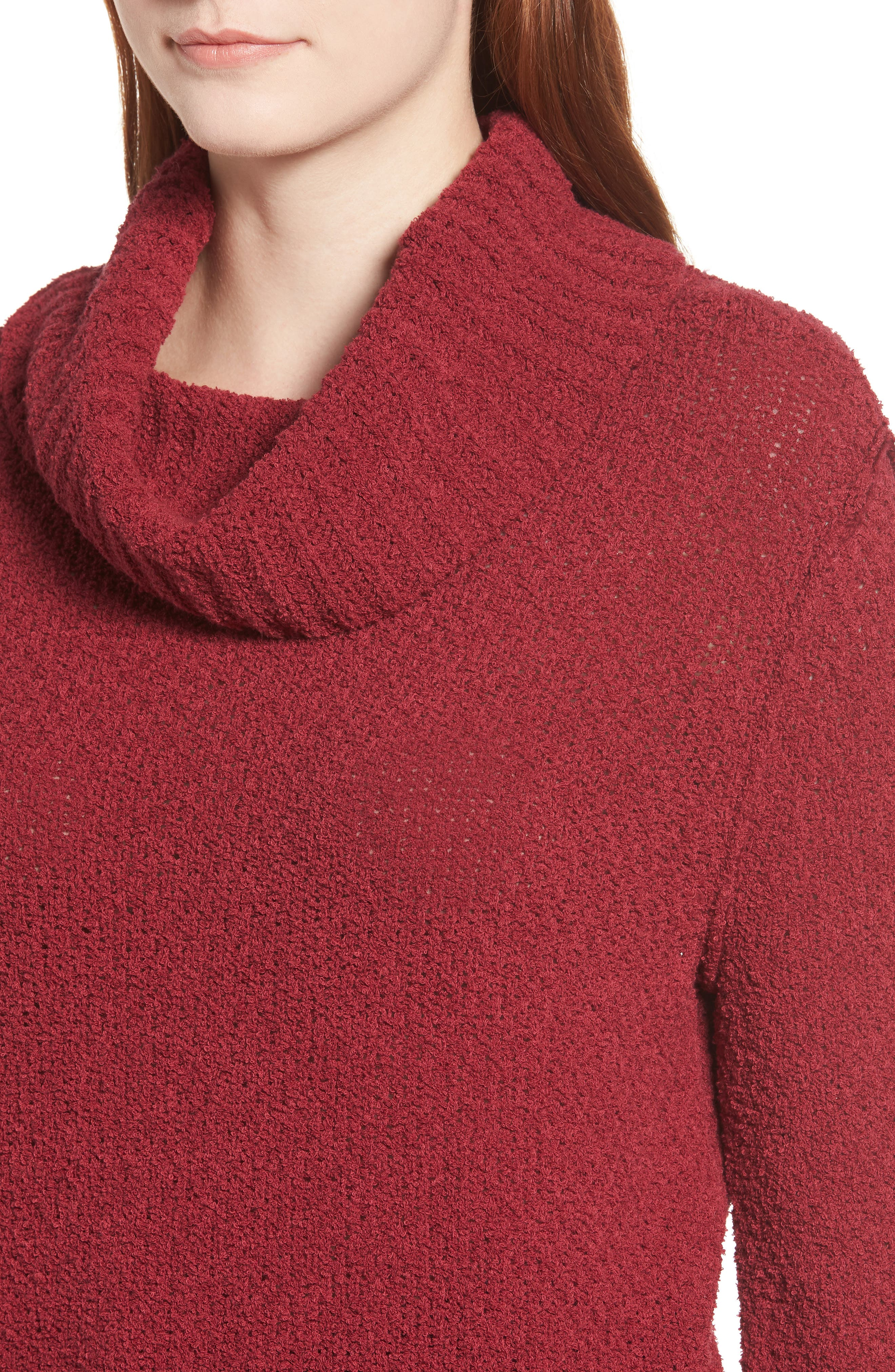 CASLON<SUP>®</SUP>,                             Cuff Sleeve Sweater,                             Alternate thumbnail 4, color,                             601