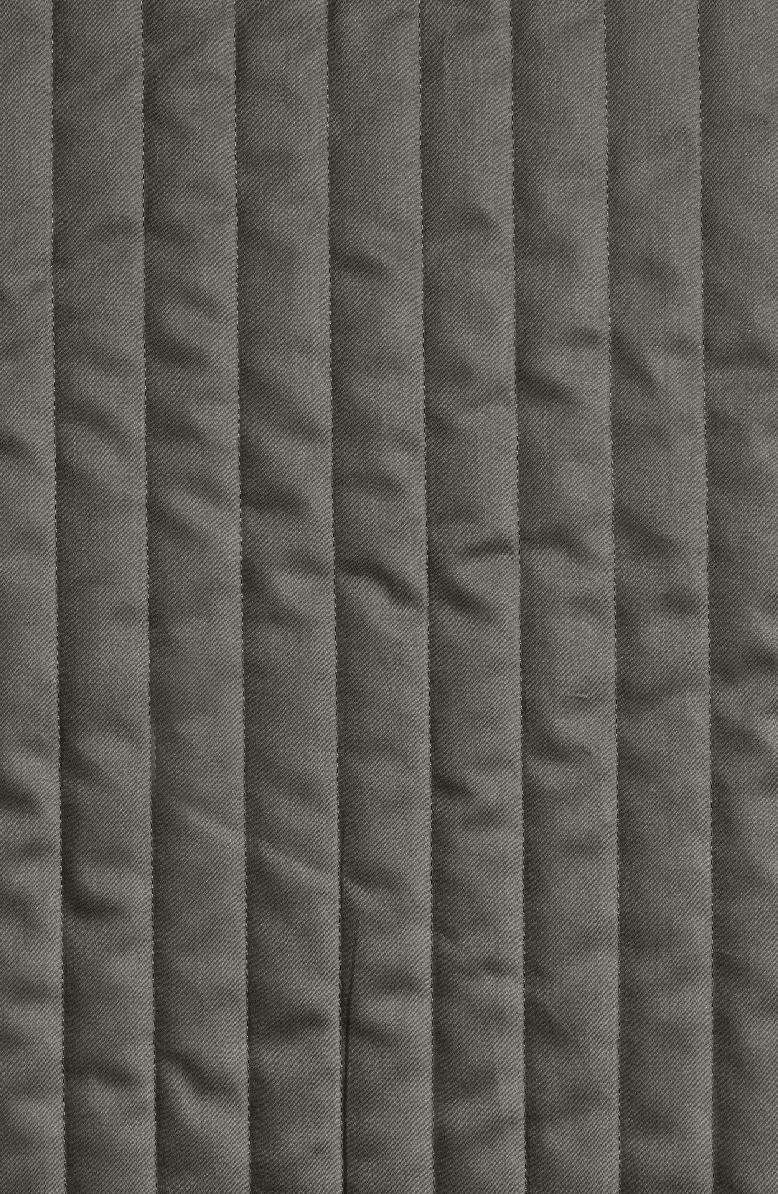 Sienna 300 Thread Count Quilted Coverlet,                             Alternate thumbnail 2, color,                             LEAD GREY