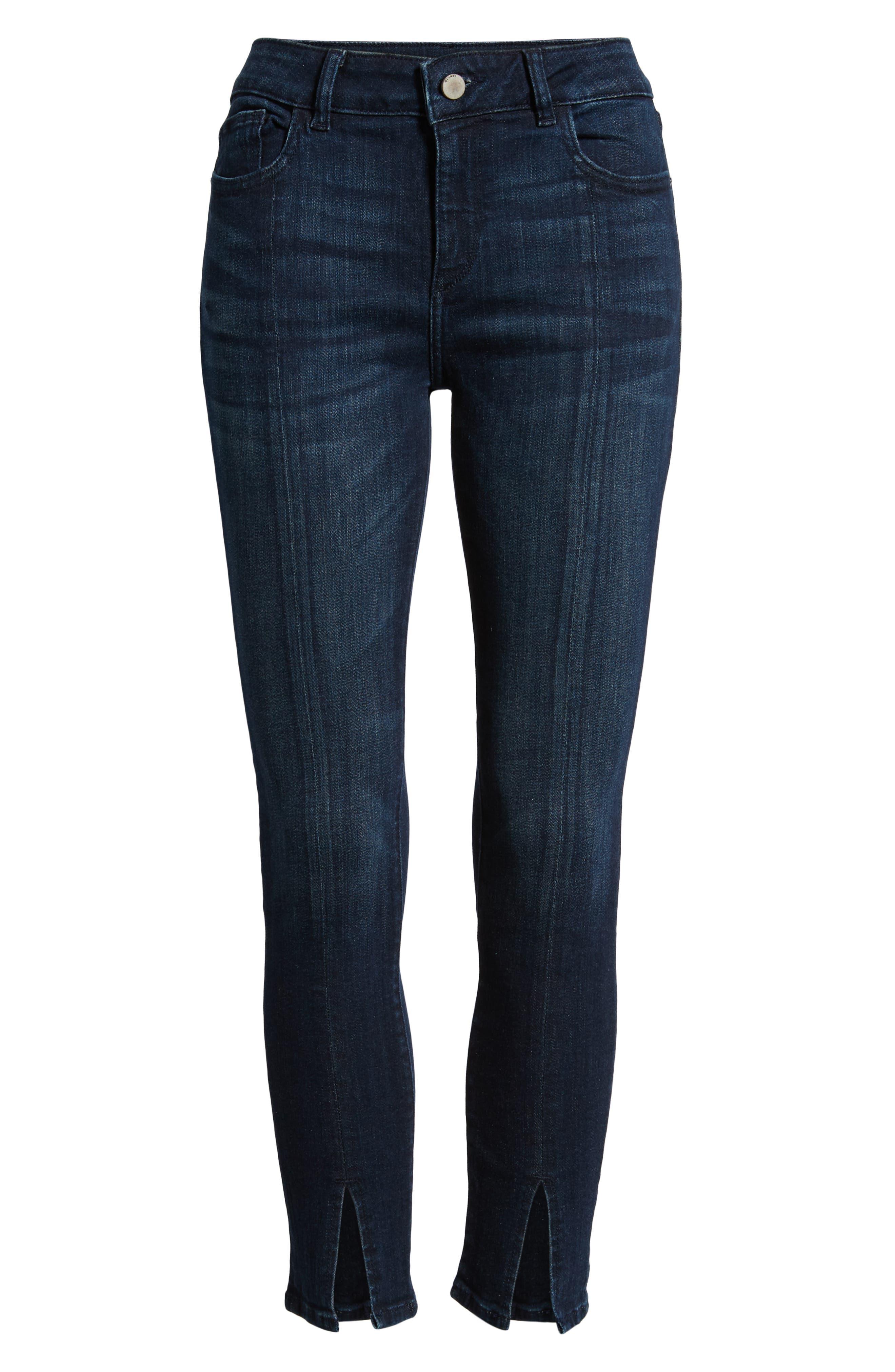 Florence Instasculpt Split Hem Crop Skinny Jeans,                             Alternate thumbnail 7, color,                             ALDRIDGE
