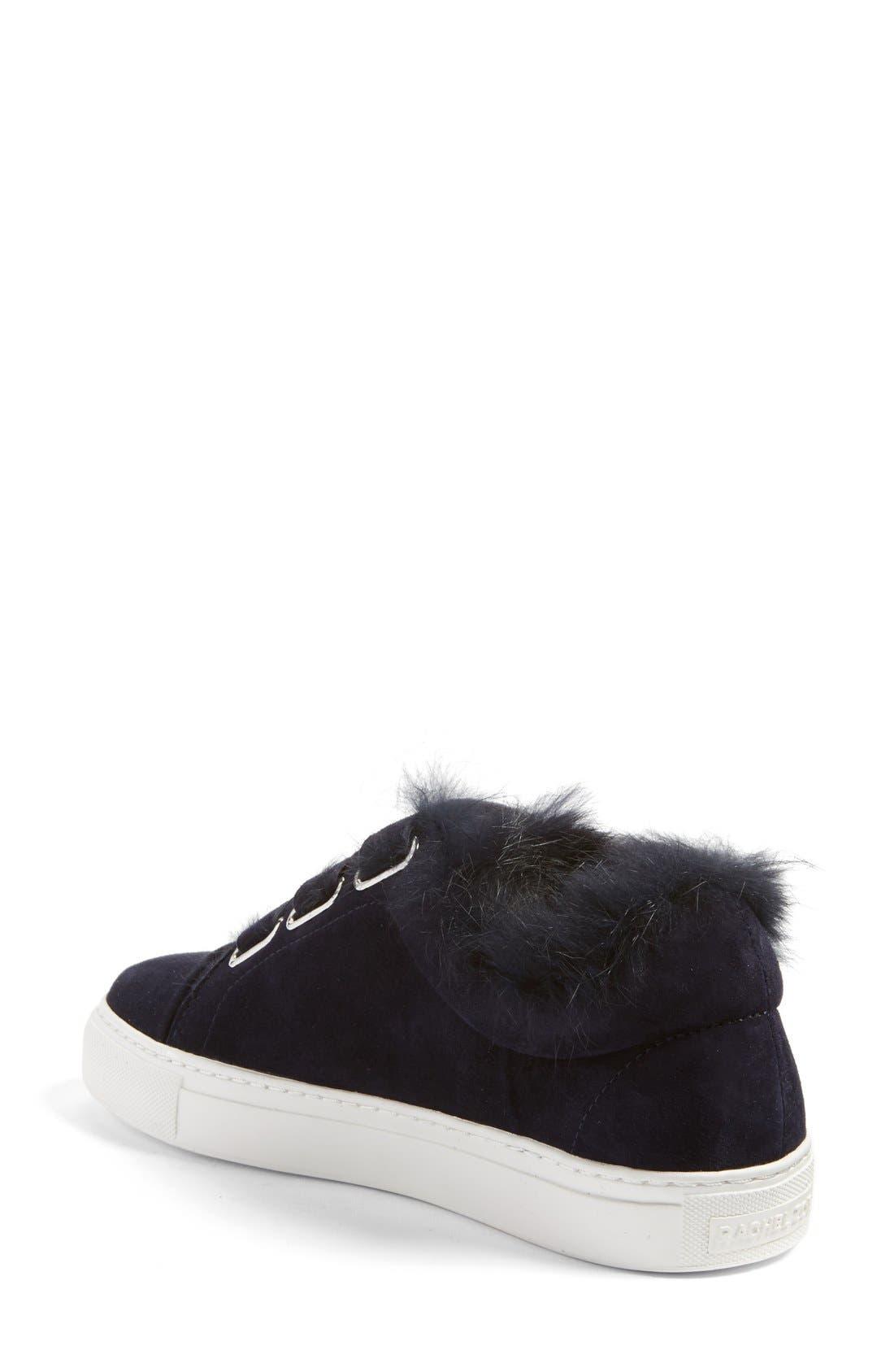 'Boe' Genuine Rabbit Fur & Shearling Lined Platform Sneaker,                             Alternate thumbnail 4, color,                             425