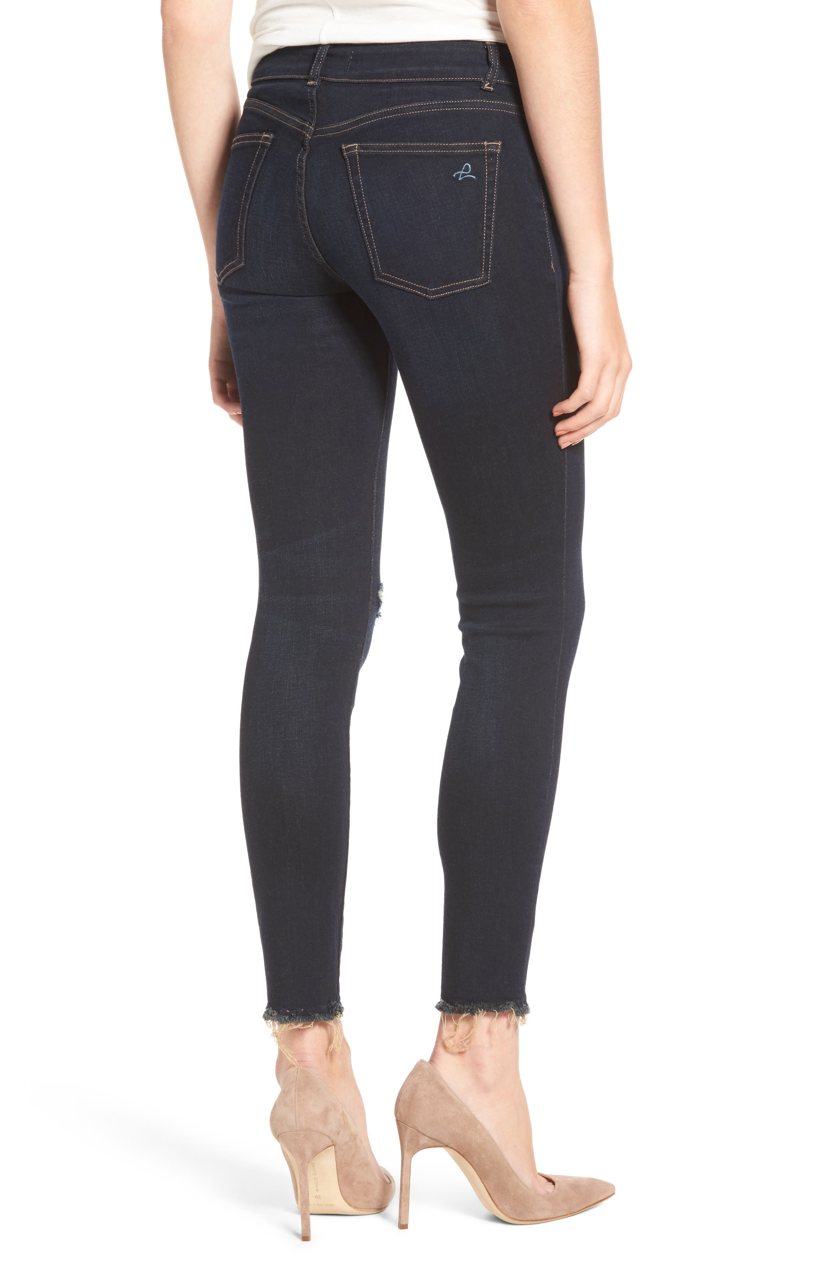 Margaux Instasculpt Ripped Ankle Skinny Jeans,                             Alternate thumbnail 2, color,                             025