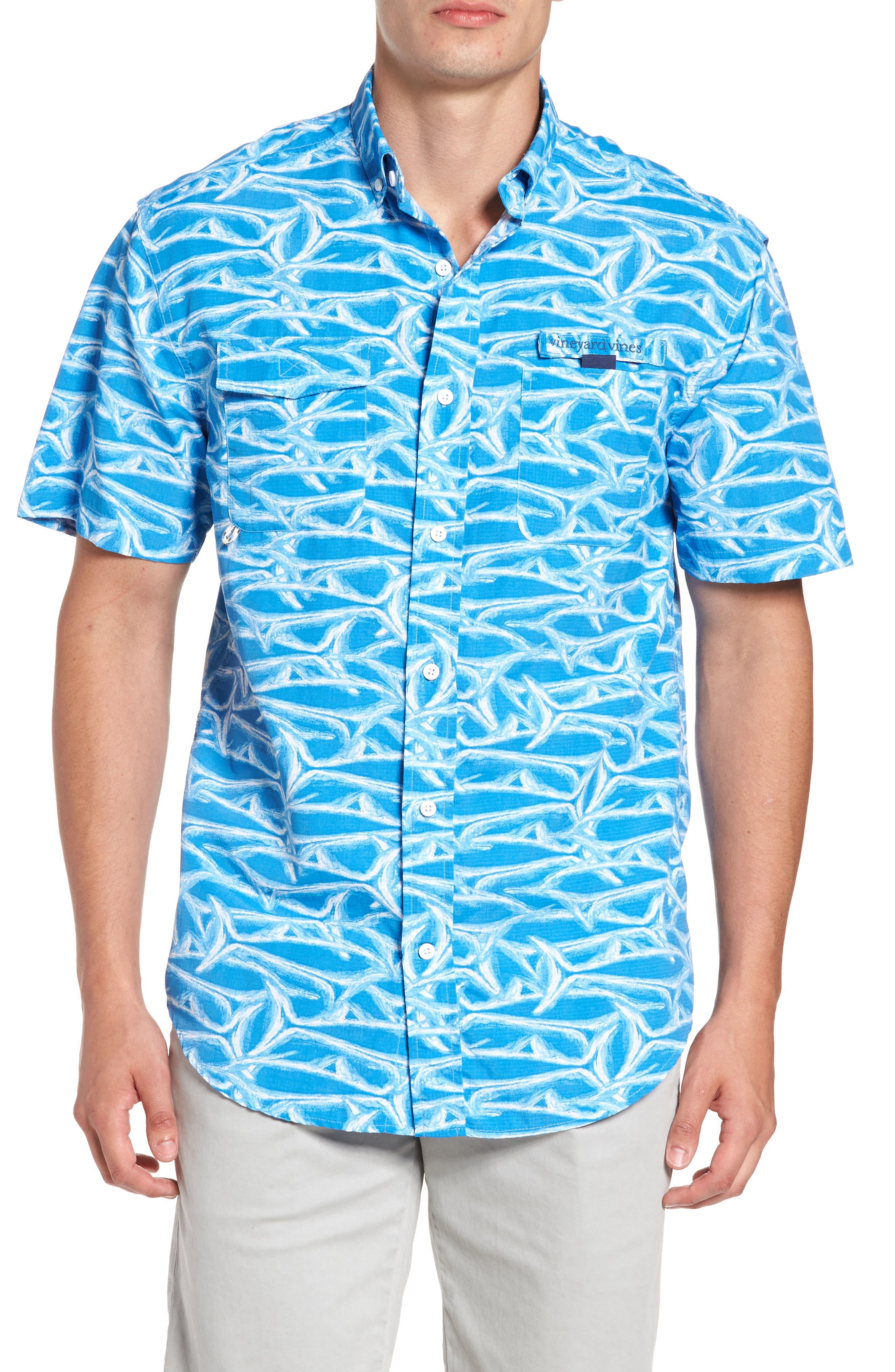 Harbor Brushed Marlin Fishing Shirt,                         Main,                         color, 496