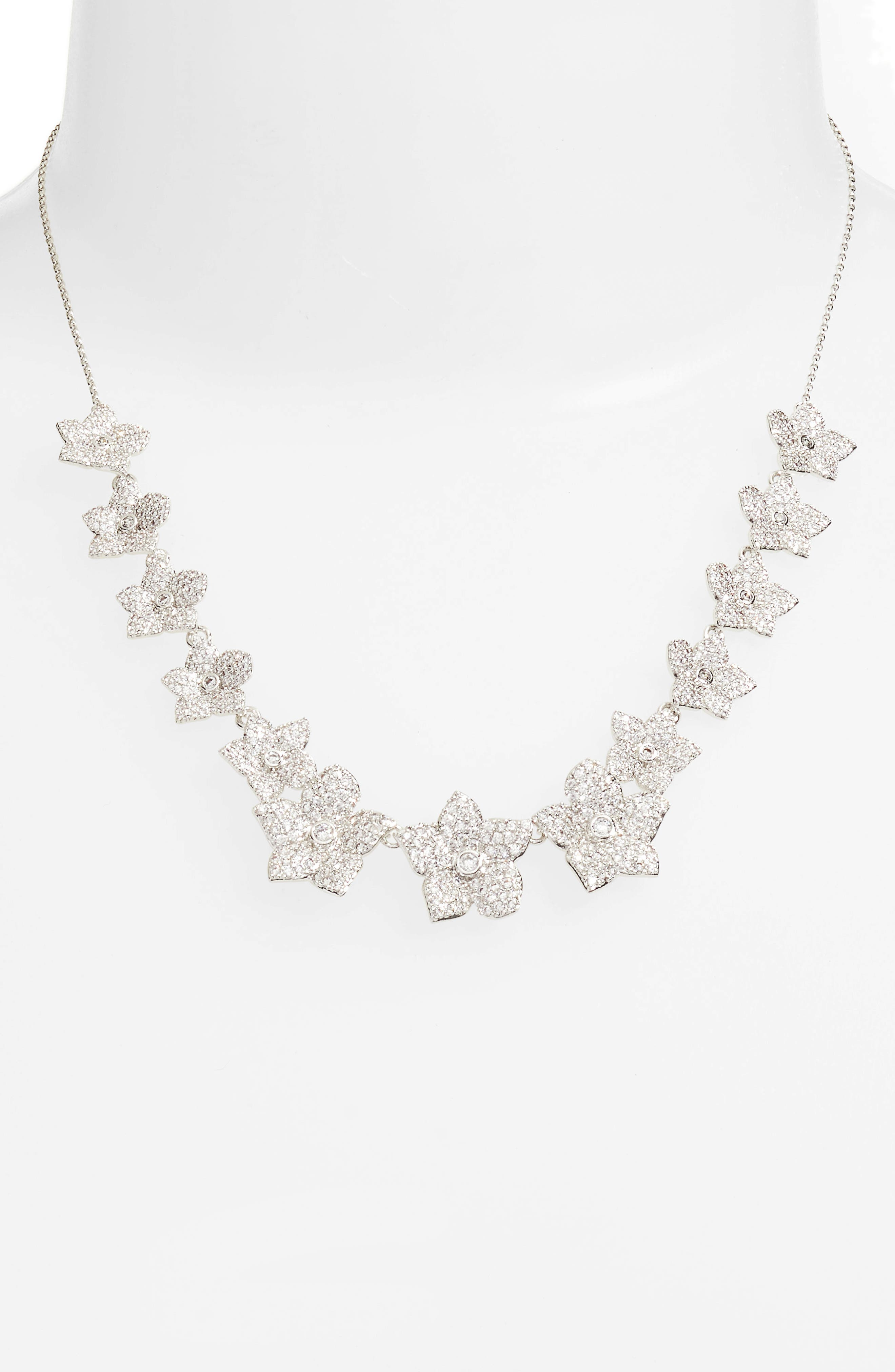 blooming pavé necklace,                             Alternate thumbnail 2, color,                             040