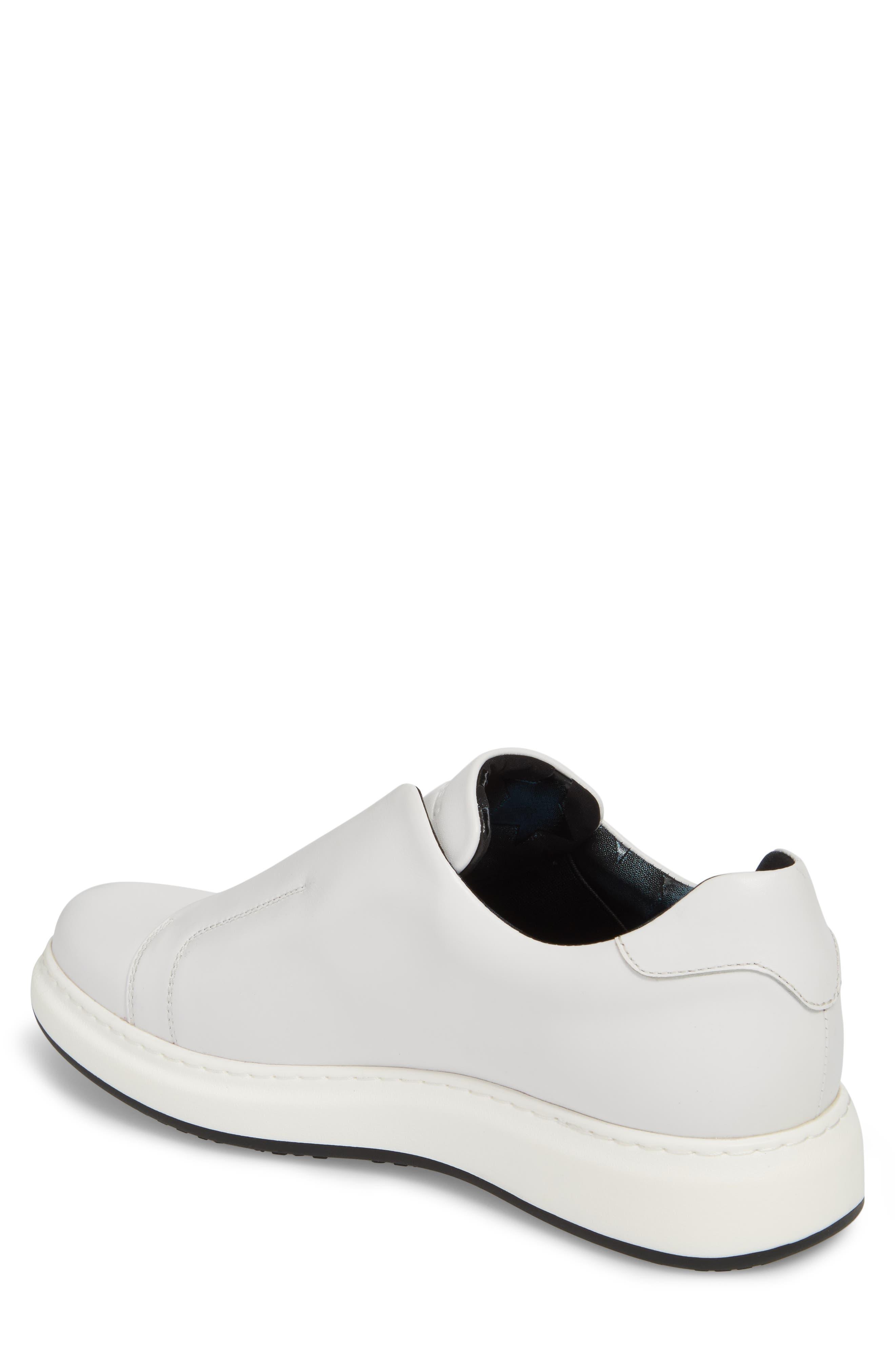 Laceless Sneaker,                             Alternate thumbnail 2, color,                             WHITE