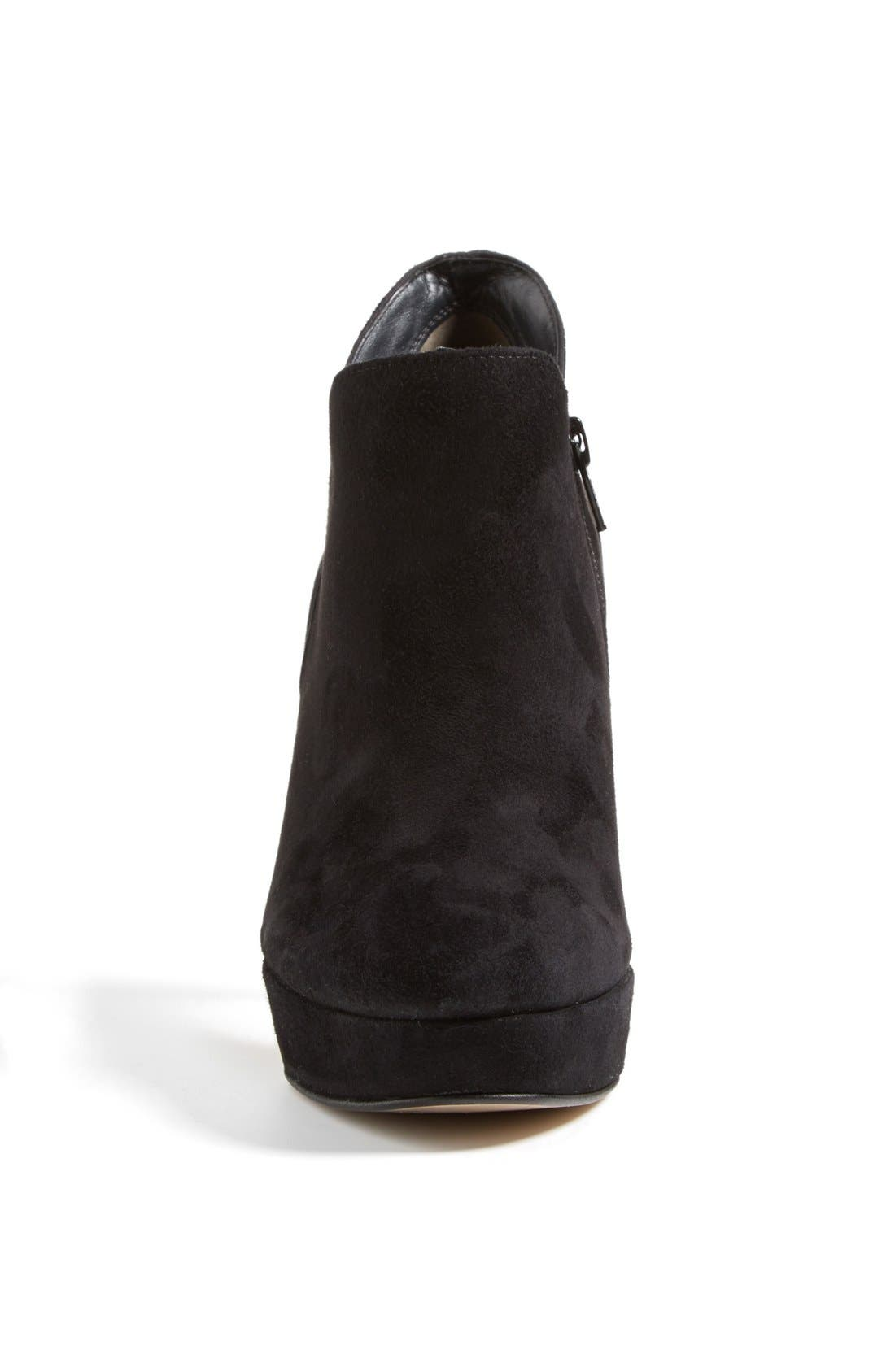 'Astaire' Suede Platform Bootie,                             Alternate thumbnail 4, color,                             002