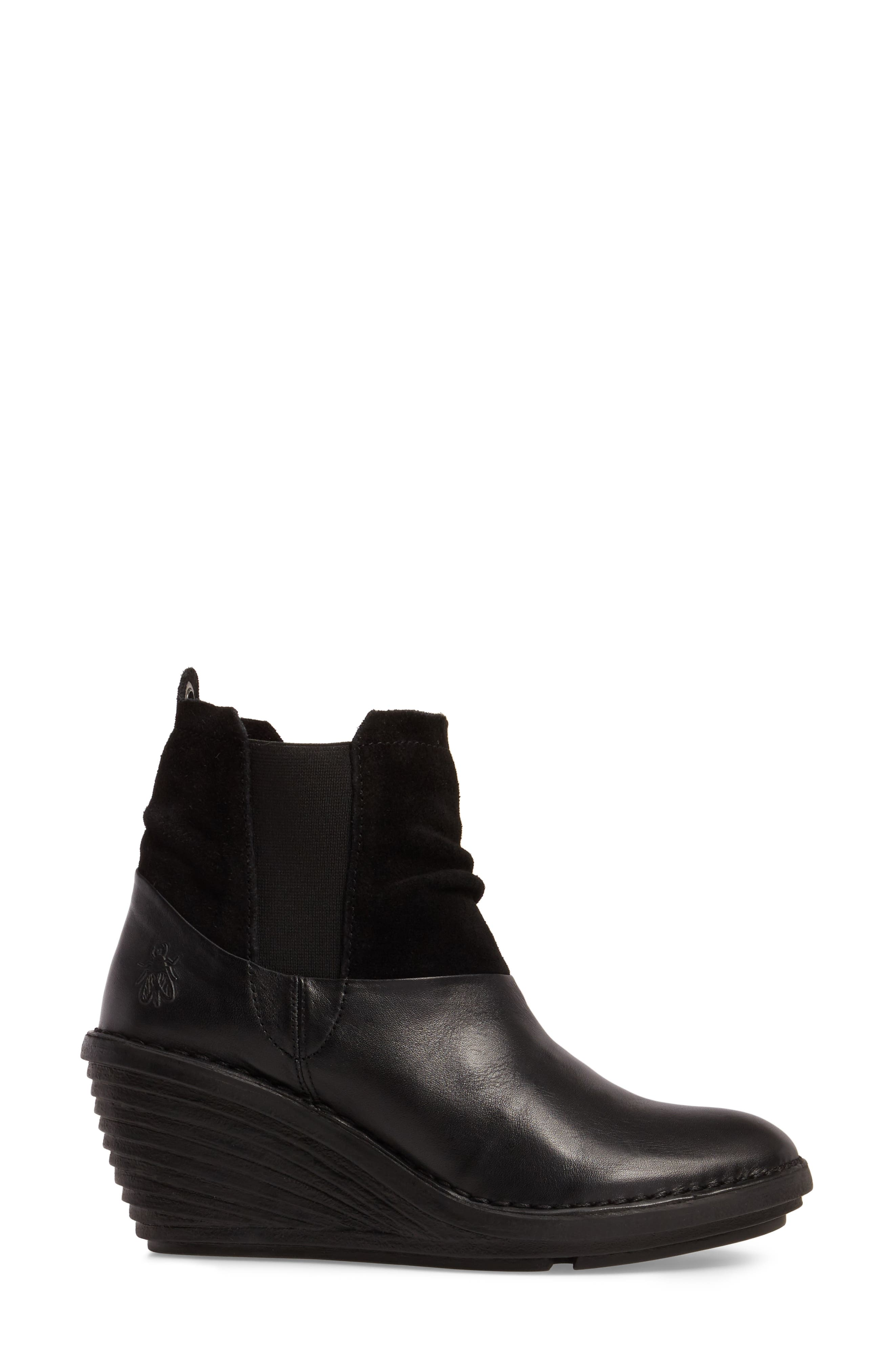 Sula Wedge Bootie,                             Alternate thumbnail 3, color,                             001