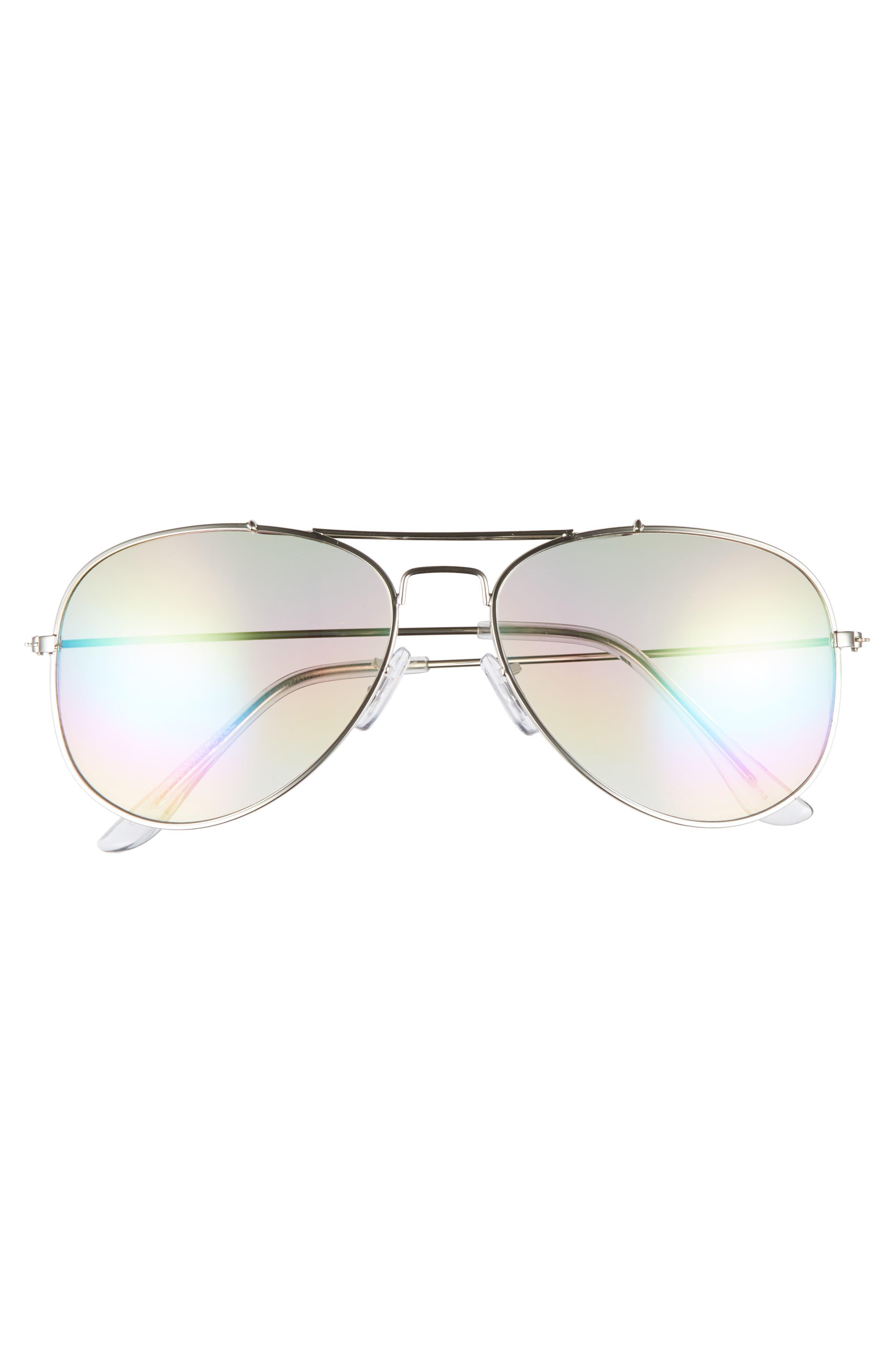 Rainbow Aviator Sunglasses,                             Alternate thumbnail 3, color,                             040