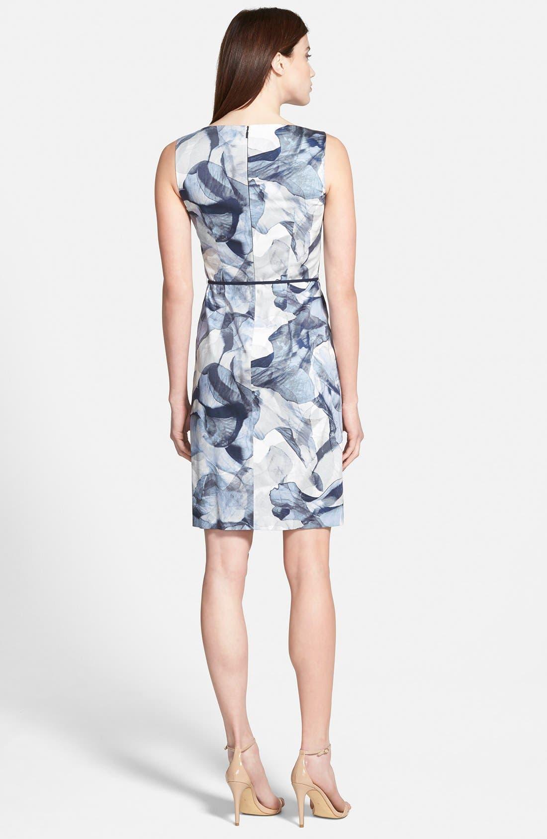 'Dinoma' Belted Sheath Dress,                             Alternate thumbnail 2, color,                             492
