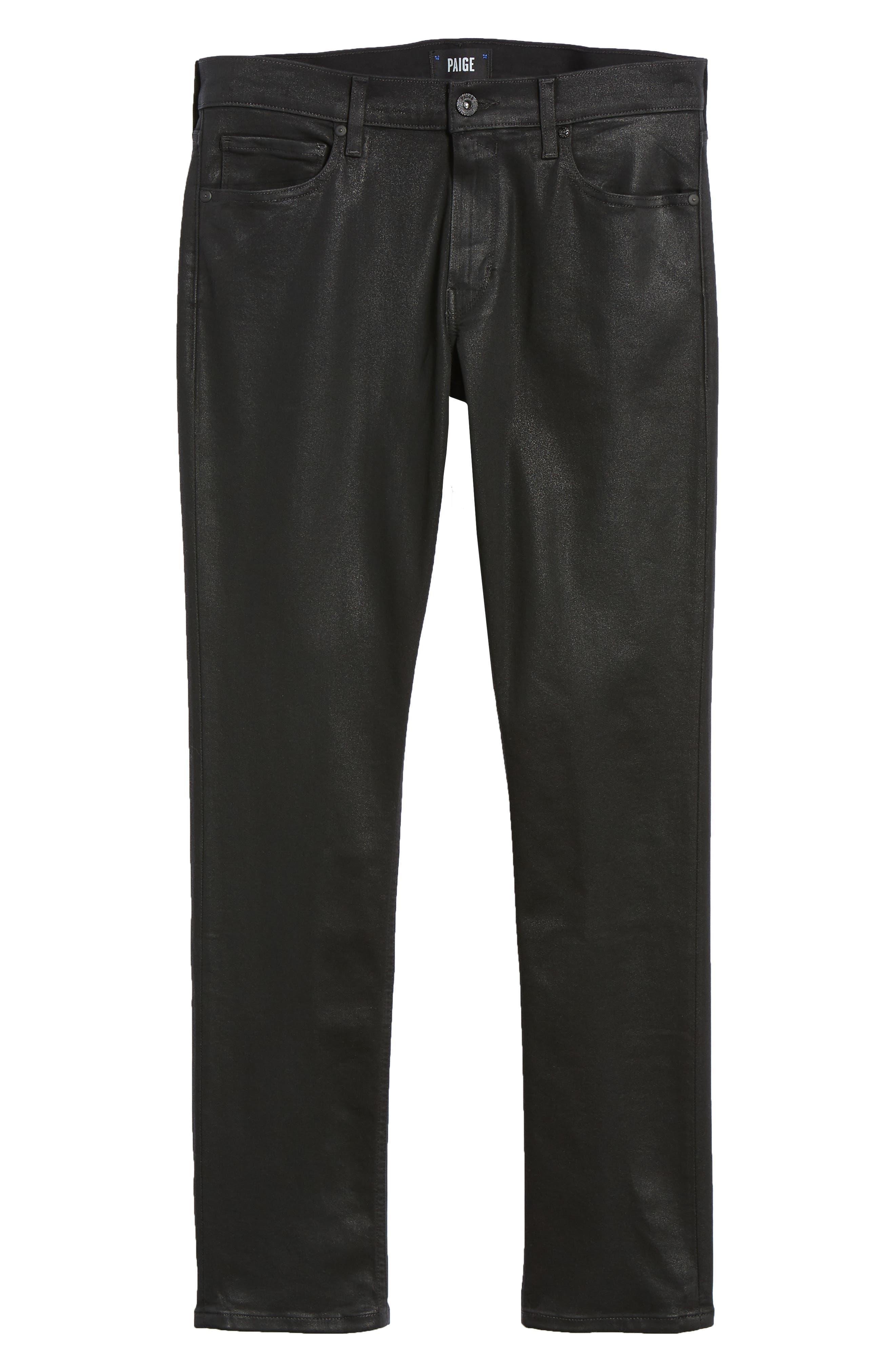 Transcend - Lennox Slim Fit Jeans,                             Alternate thumbnail 6, color,                             WILKS COATED