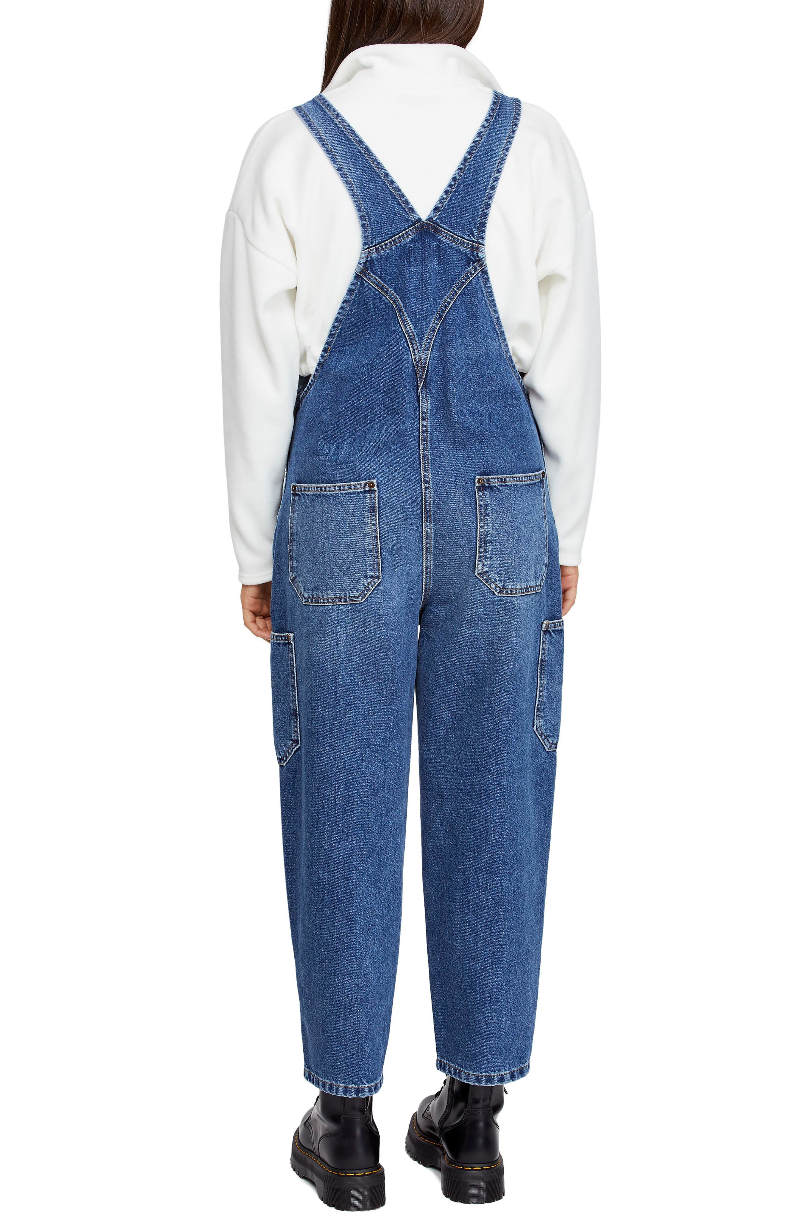 Urban Outfitters Workwear Denim Overalls,                             Alternate thumbnail 2, color,                             DENIM BLUE