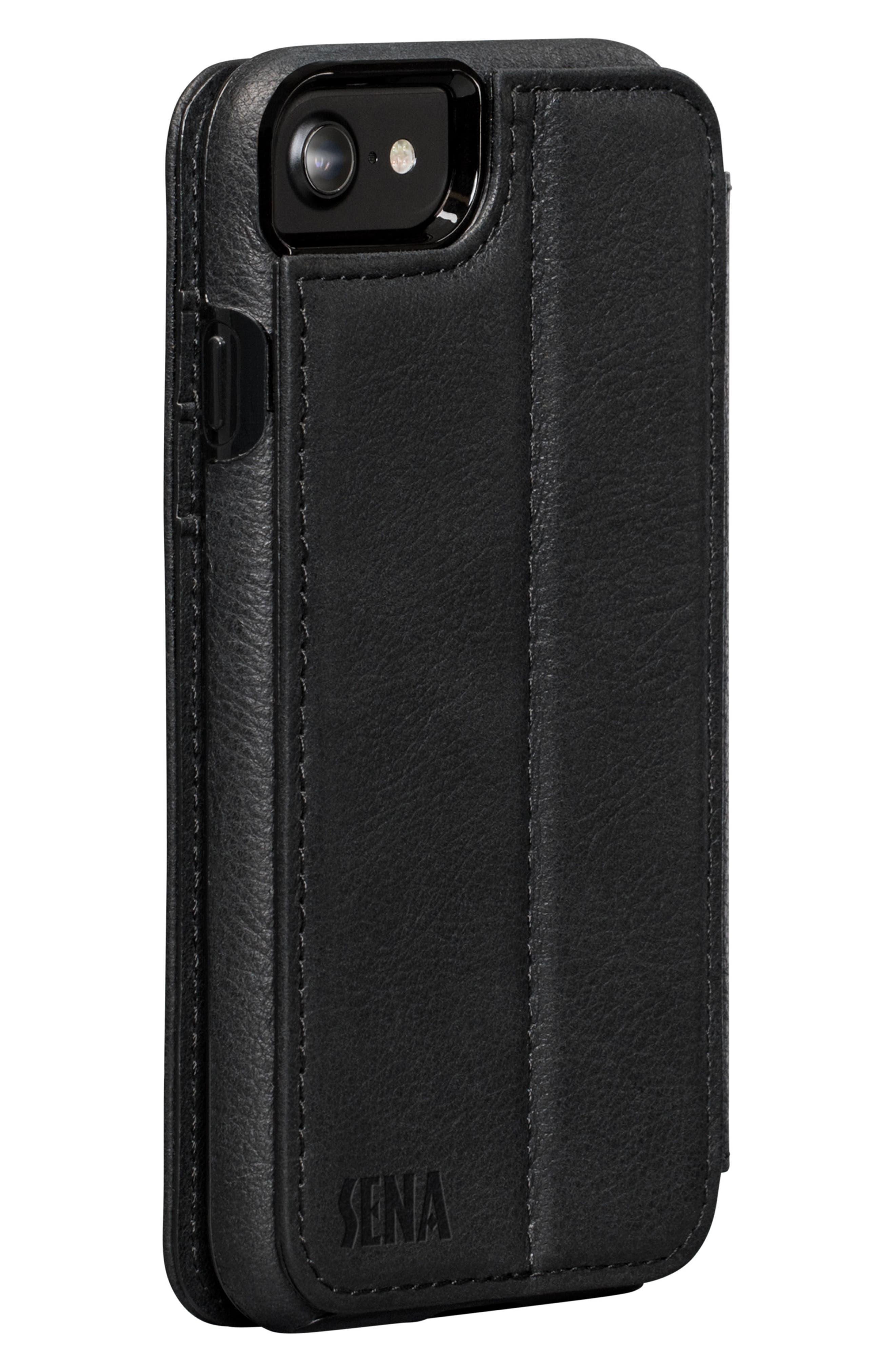 Bence iPhone 7/8 Walletbook,                             Alternate thumbnail 3, color,                             BLACK