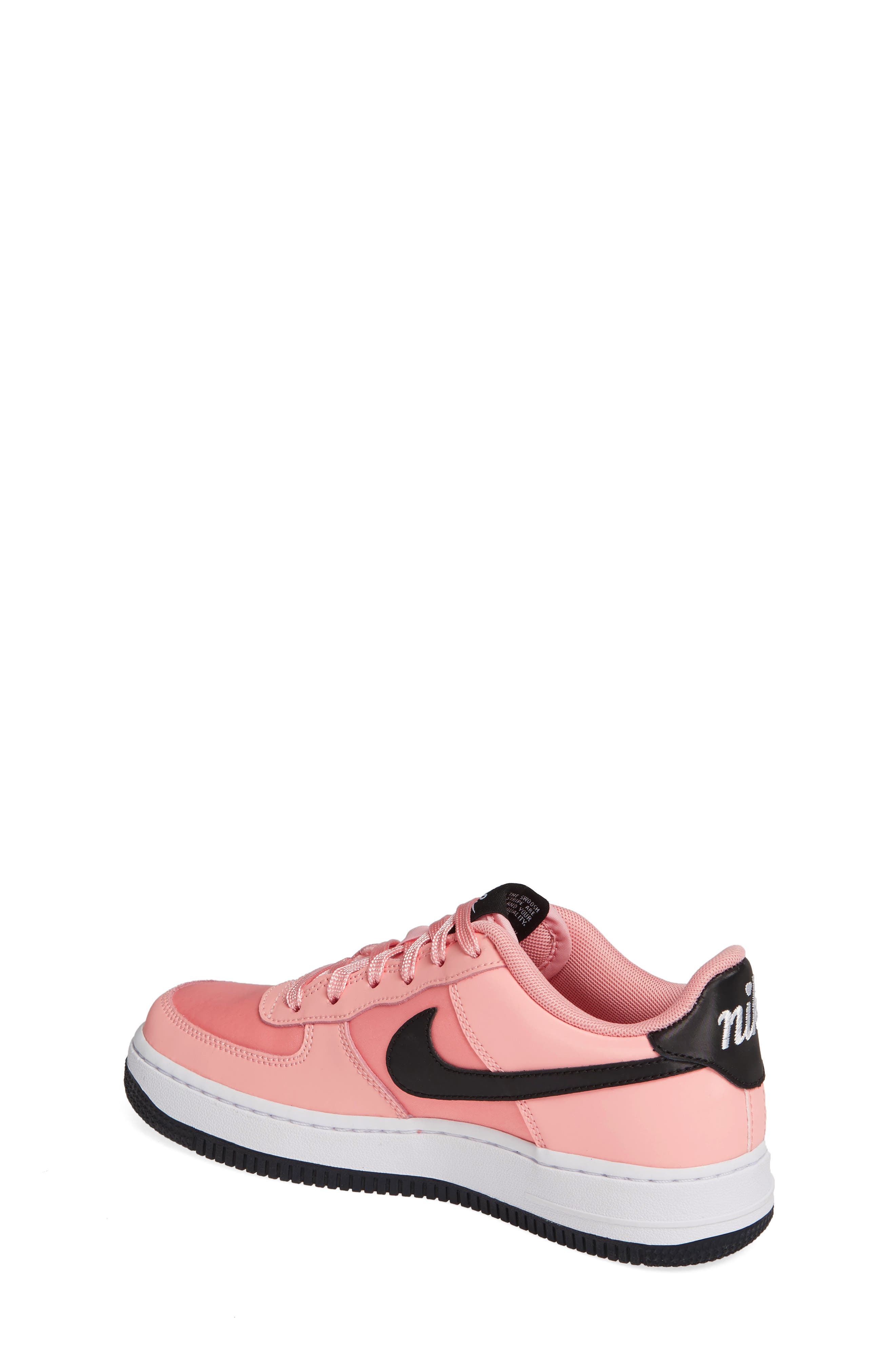Air Force 1 VDAY Sneaker,                             Alternate thumbnail 2, color,                             BLEACHED CORAL/ BLACK-WHITE