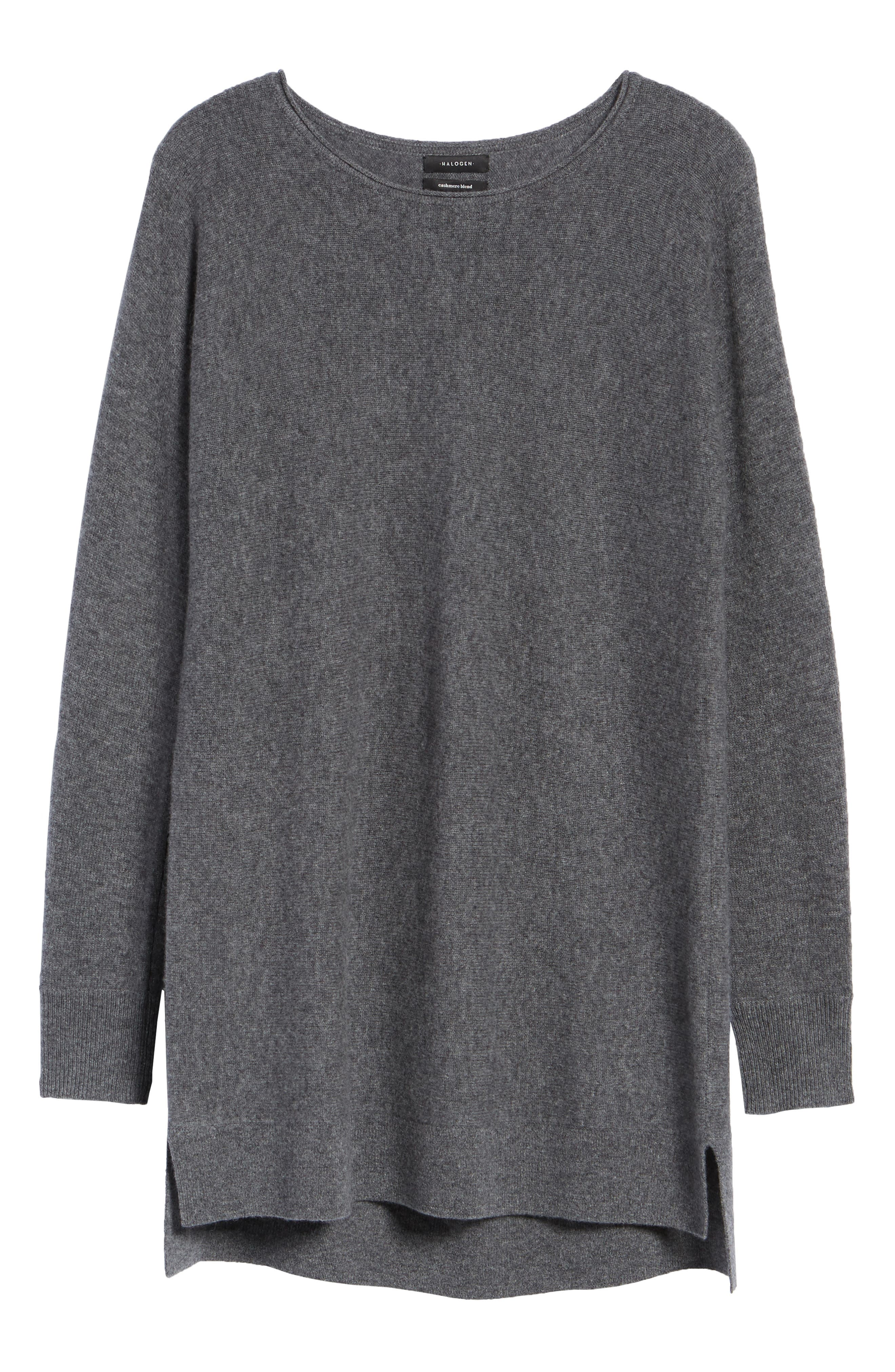 High/Low Wool & Cashmere Tunic Sweater,                             Alternate thumbnail 92, color,