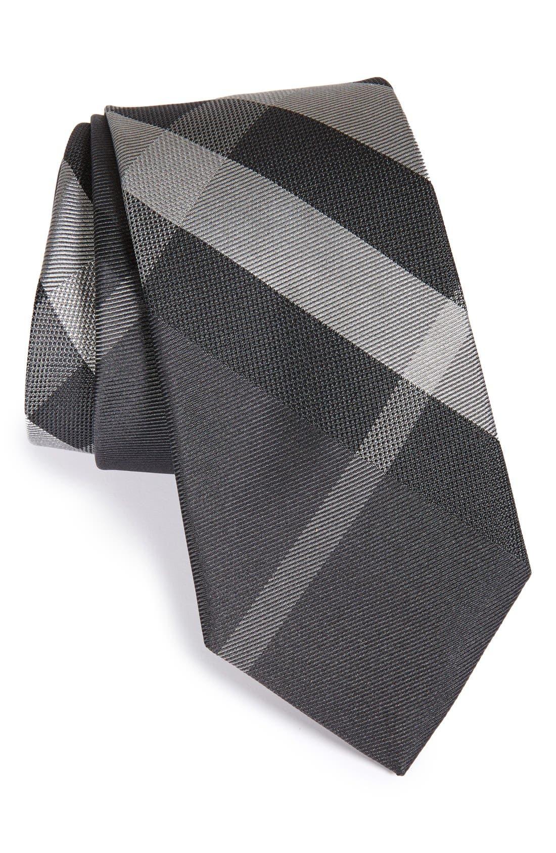 Manston Check Silk Tie,                         Main,                         color, 012
