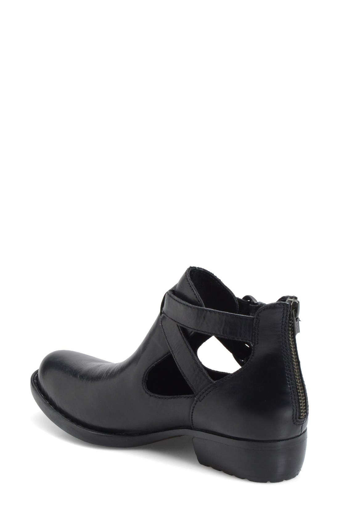 'Kamilla' Cutout Ankle Boot,                             Alternate thumbnail 2, color,                             001